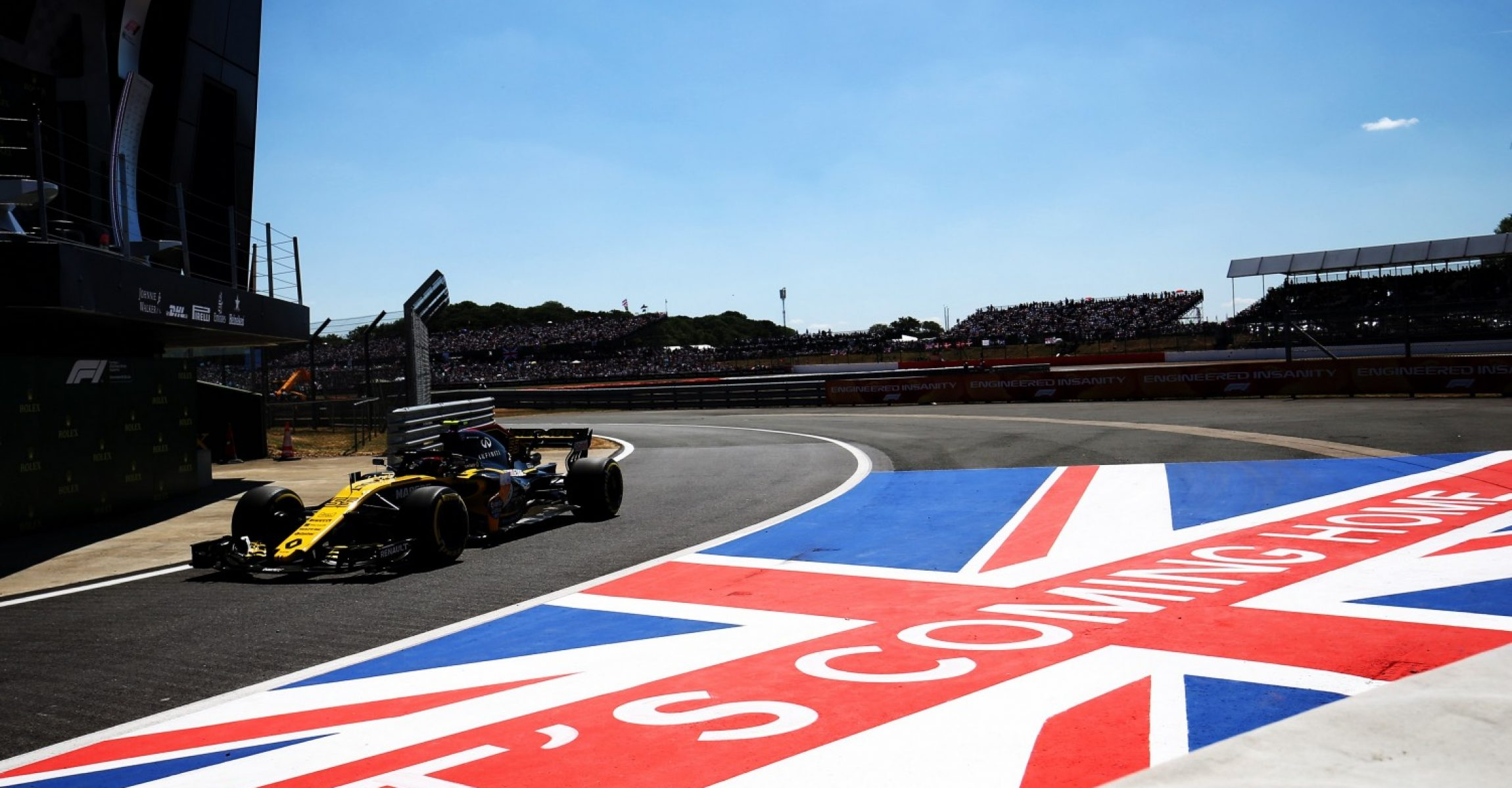 Carlos Sainz Jr (ESP) Renault Sport F1 Team RS18. British Grand Prix, Sunday 8th July 2018. Silverstone, England.