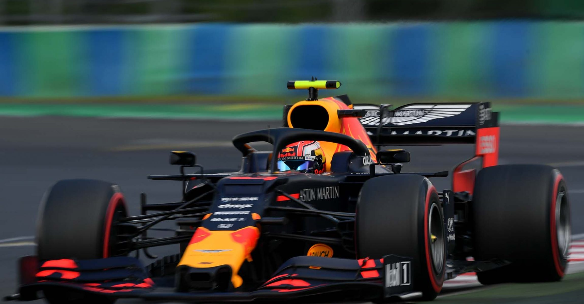 BUDAPEST, HUNGARY - AUGUST 03: Pierre Gasly of France driving the (10) Aston Martin Red Bull Racing RB15 on track during qualifying for the F1 Grand Prix of Hungary at Hungaroring on August 03, 2019 in Budapest, Hungary. (Photo by Dan Mullan/Getty Images) // Getty Images / Red Bull Content Pool  // AP-2157RDJUS2111 // Usage for editorial use only // Please go to www.redbullcontentpool.com for further information. //
