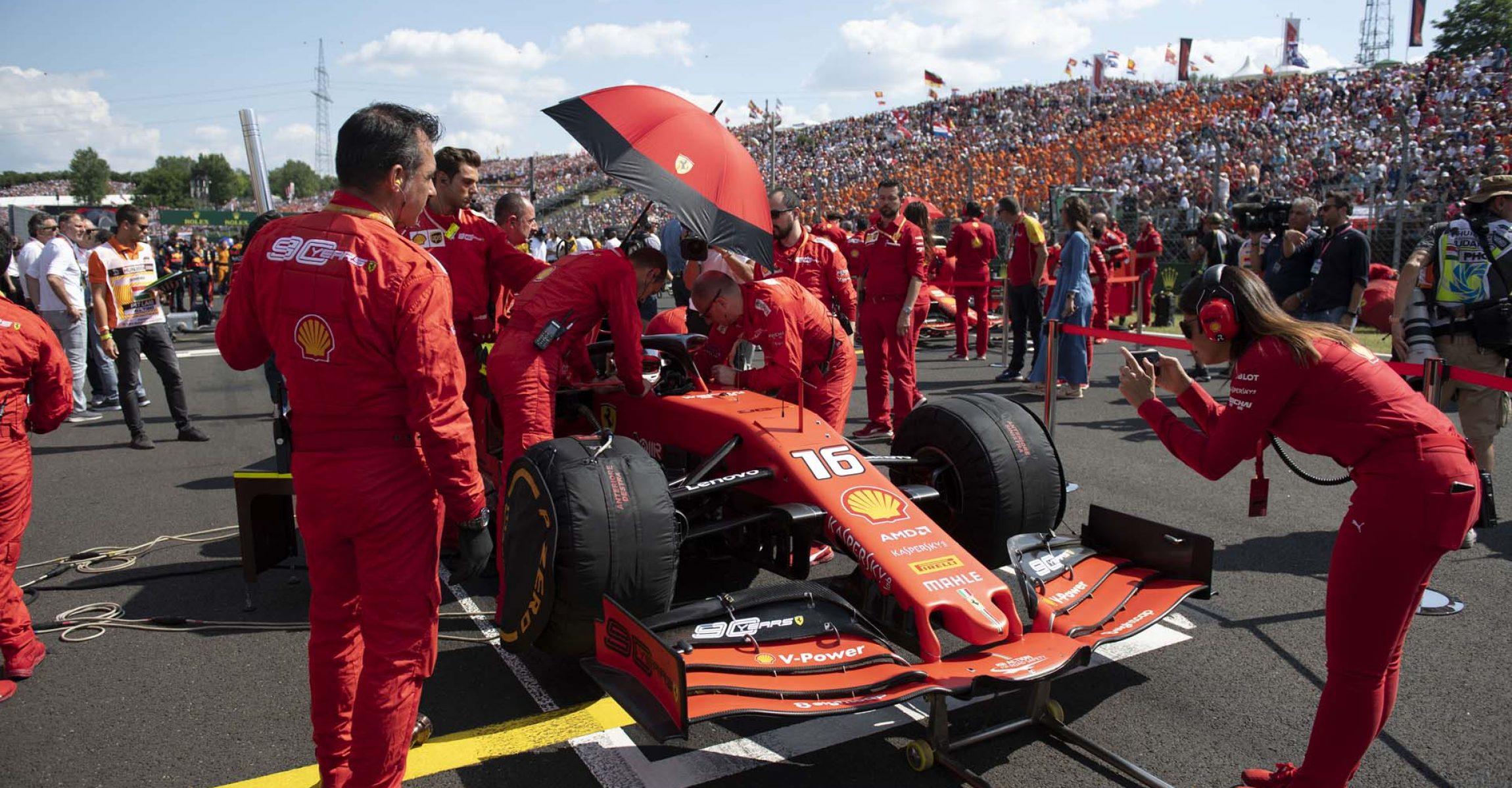 Charles Leclerc, Ferrari, grid, Hungaroring