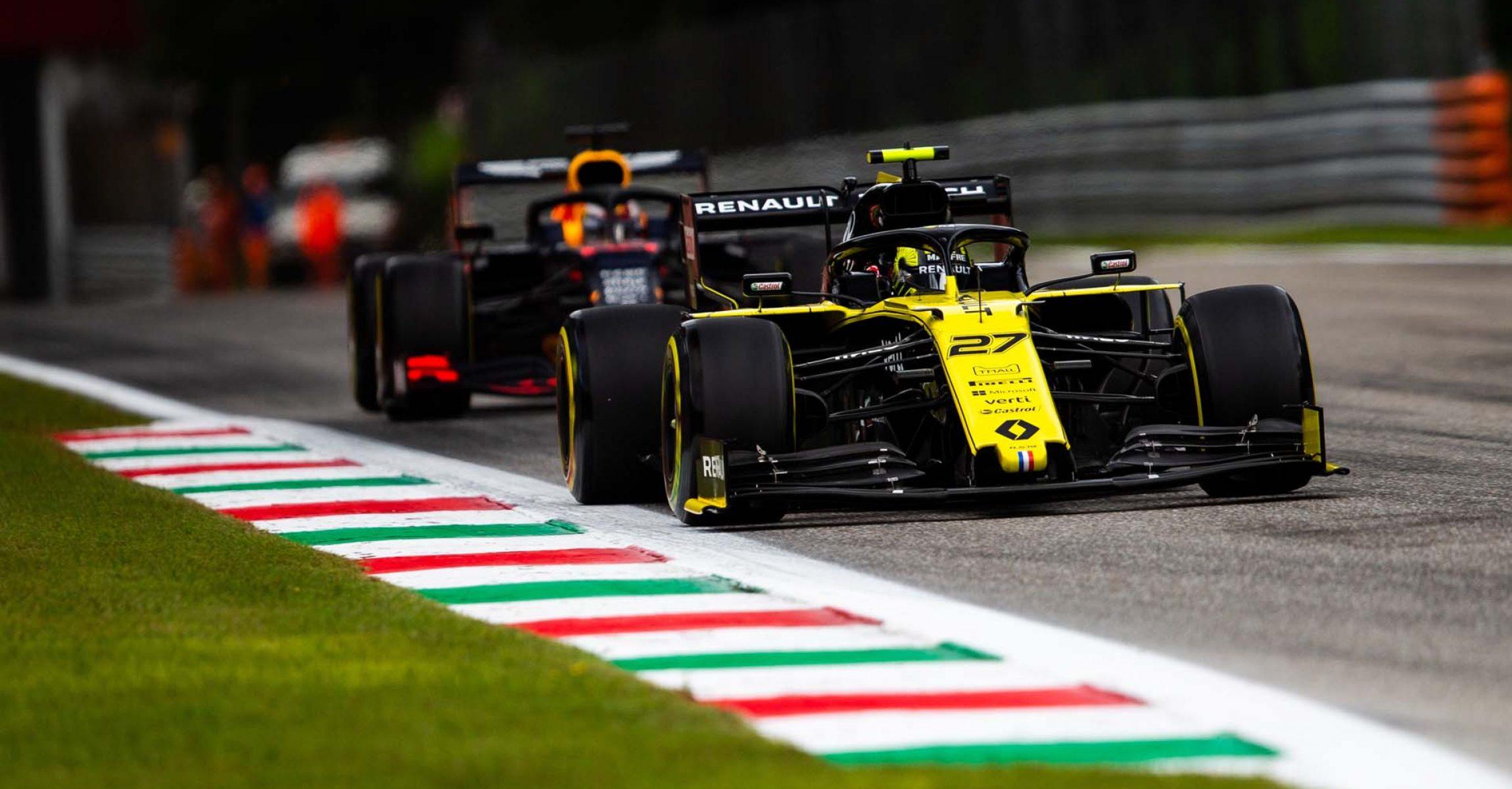 Nico Hülkenberg (GER) Renault F1 Team RS19. Italian Grand Prix, Friday 6th September 2019. Monza Italy.