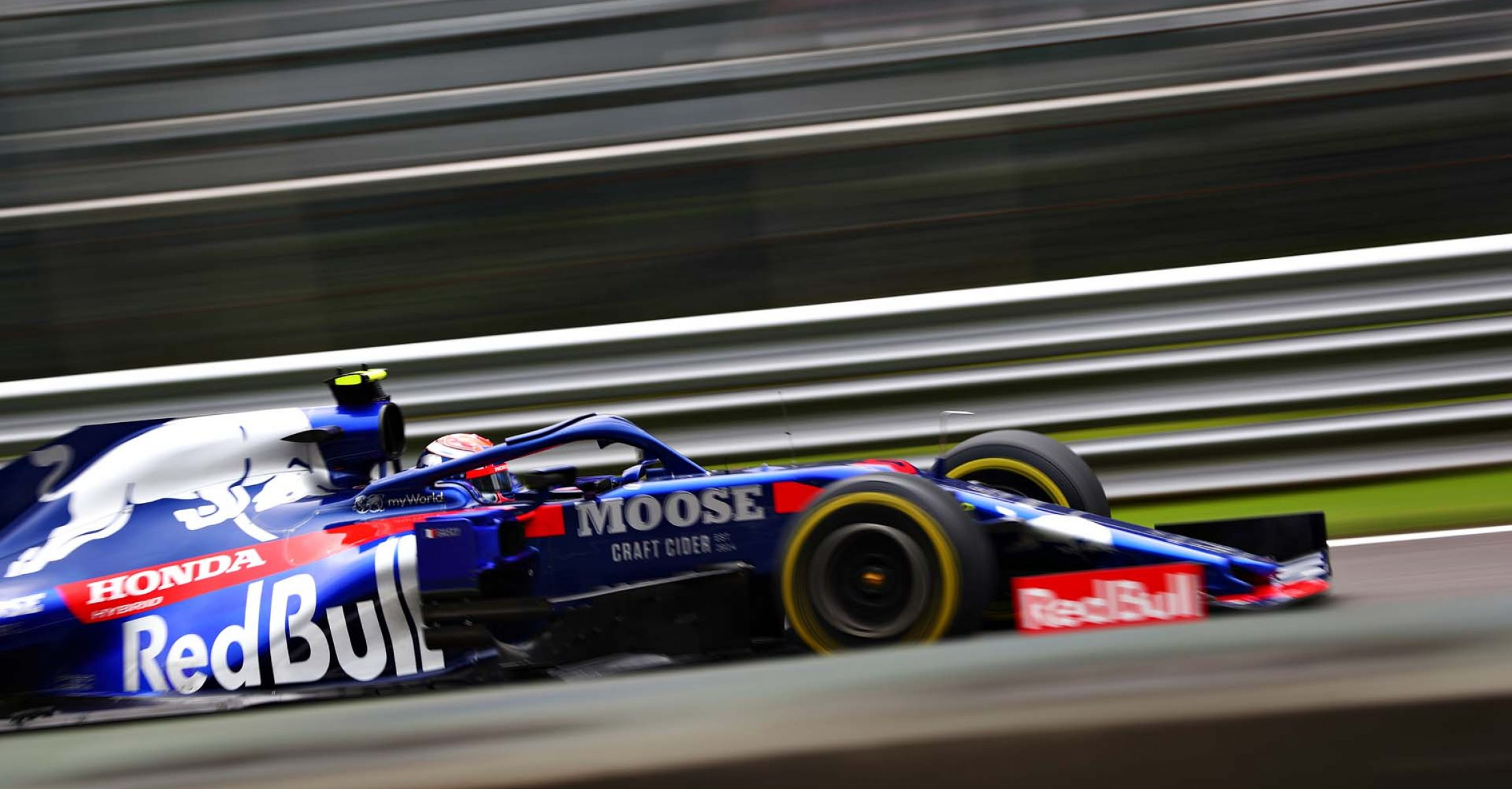 MONZA, ITALY - SEPTEMBER 06: Pierre Gasly of France driving the (10) Scuderia Toro Rosso STR14 Honda on track during practice for the F1 Grand Prix of Italy at Autodromo di Monza on September 06, 2019 in Monza, Italy. (Photo by Dan Istitene/Getty Images) // Getty Images / Red Bull Content Pool  // AP-21G69ENJH1W11 // Usage for editorial use only //
