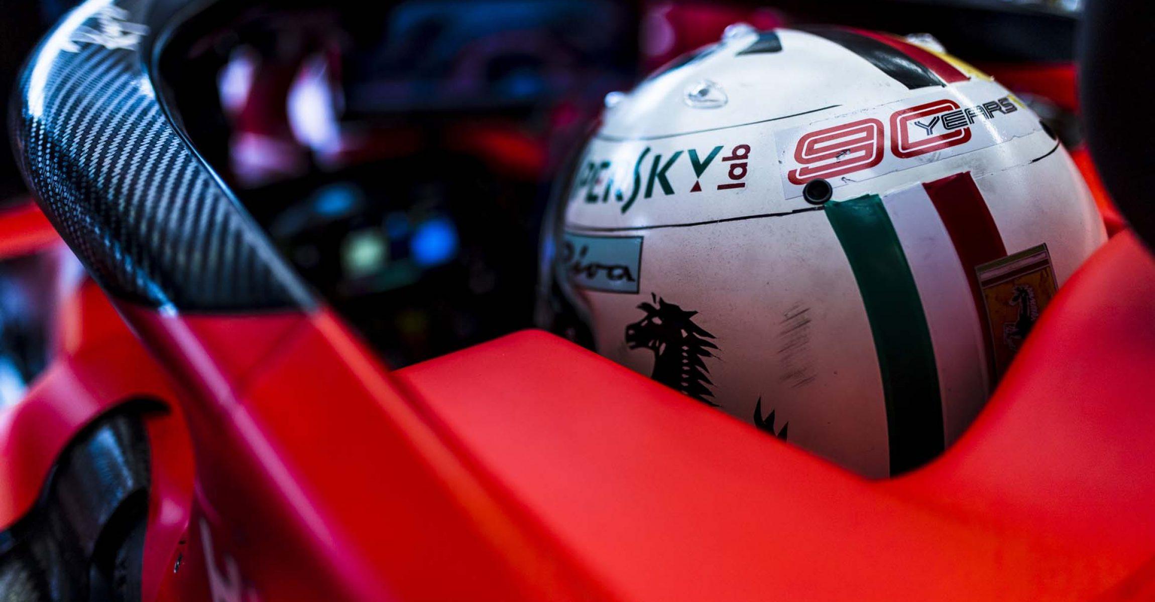 Sebastian Vettel, Ferrari, halo,