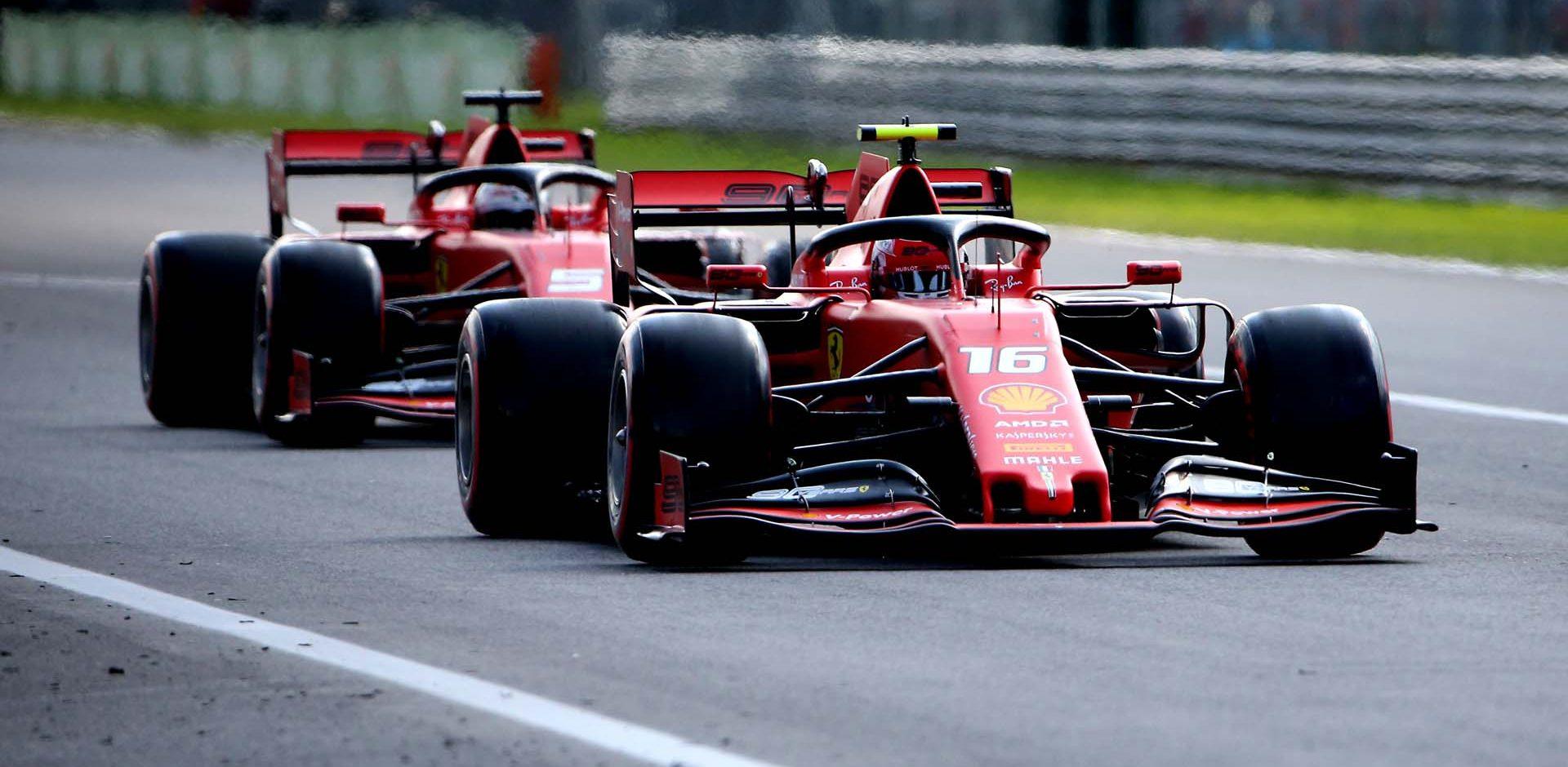 GP ITALIA  F1/2019 -  SABATO 07/09/2019   credit: @Scuderia Ferrari Press Office Charles Leclerc, Sebastian Vettel, Ferrari, Monza