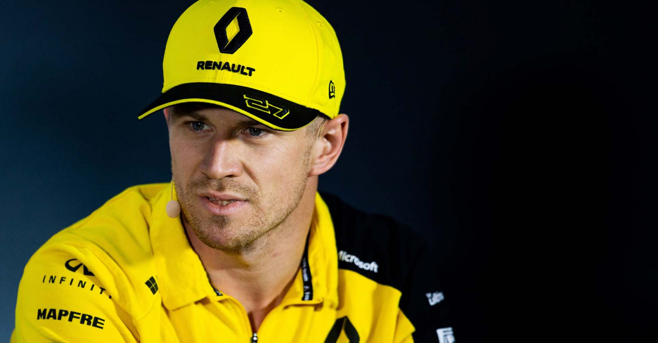 Nico Hülkenberg (GER) Renault F1 Team in the FIA Press Conference. Italian Grand Prix, Thursday 5th September 2019. Monza Italy.