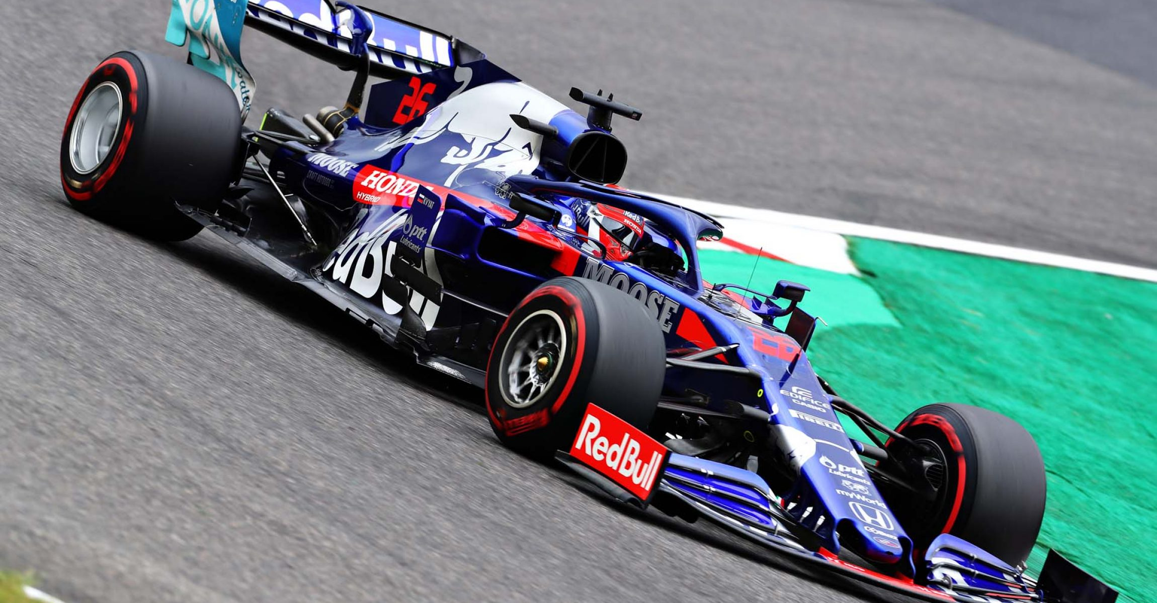 SUZUKA, JAPAN - OCTOBER 11: Daniil Kvyat driving the (26) Scuderia Toro Rosso STR14 Honda on track during practice for the F1 Grand Prix of Japan at Suzuka Circuit on October 11, 2019 in Suzuka, Japan. (Photo by Mark Thompson/Getty Images) // Getty Images / Red Bull Content Pool // AP-21UAJYF2N2111 // Usage for editorial use only //
