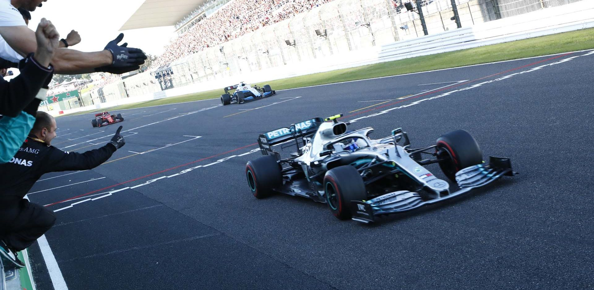 2019 Japanese Grand Prix, Sunday - Wolfgang Wilhelm Valtteri Bottas Mercedes wins
