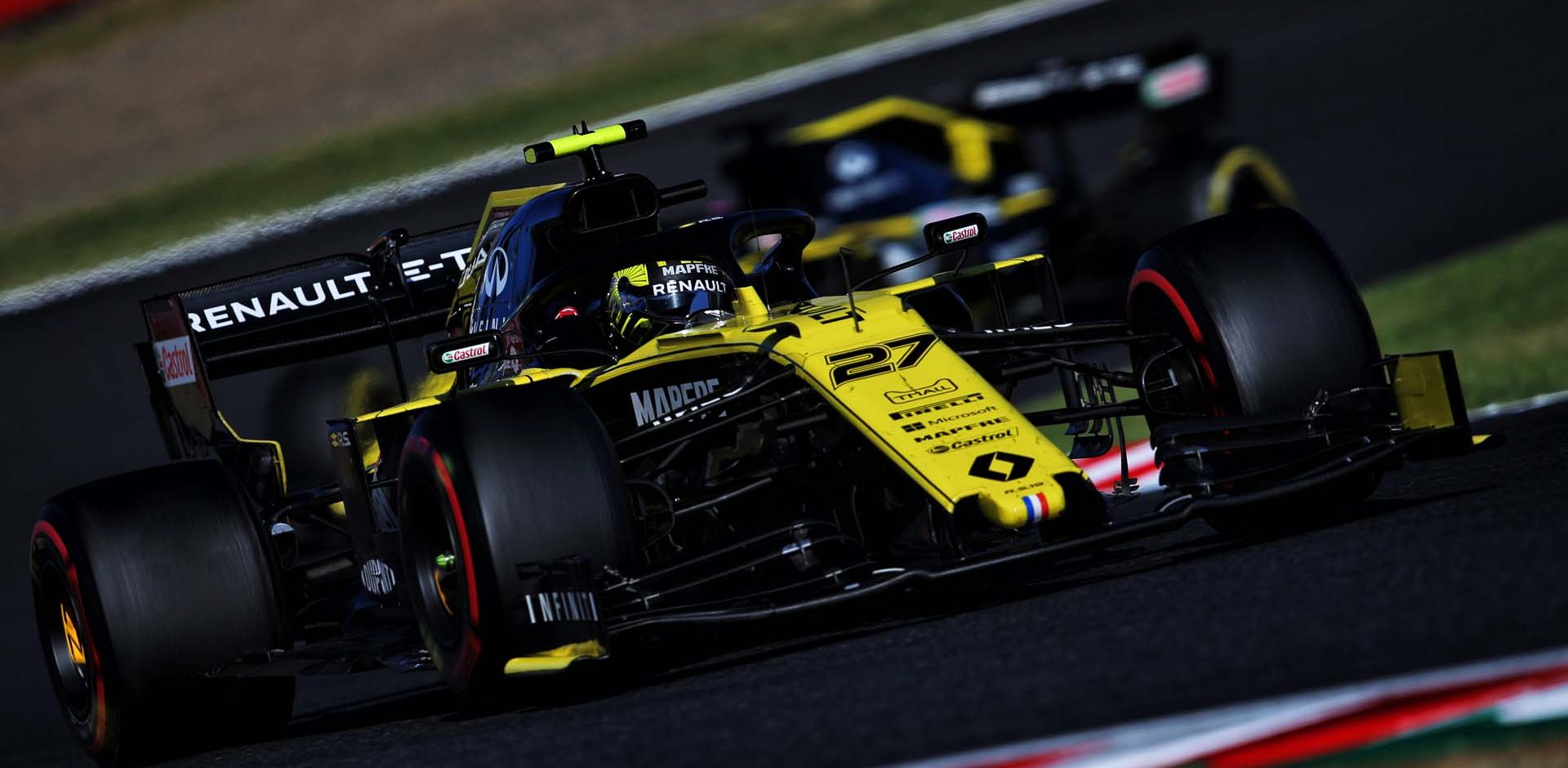 Nico Hülkenberg (GER) Renault F1 Team RS19. Japanese Grand Prix, Sunday 13th October 2019. Suzuka, Japan.