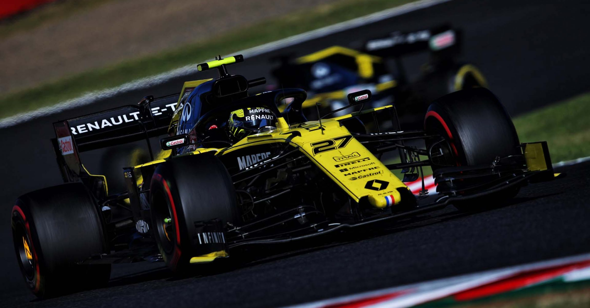 Nico Hülkenberg (GER) Renault F1 Team RS19. Japanese Grand Prix, Sunday 13th October 2019. Suzuka, Japan.