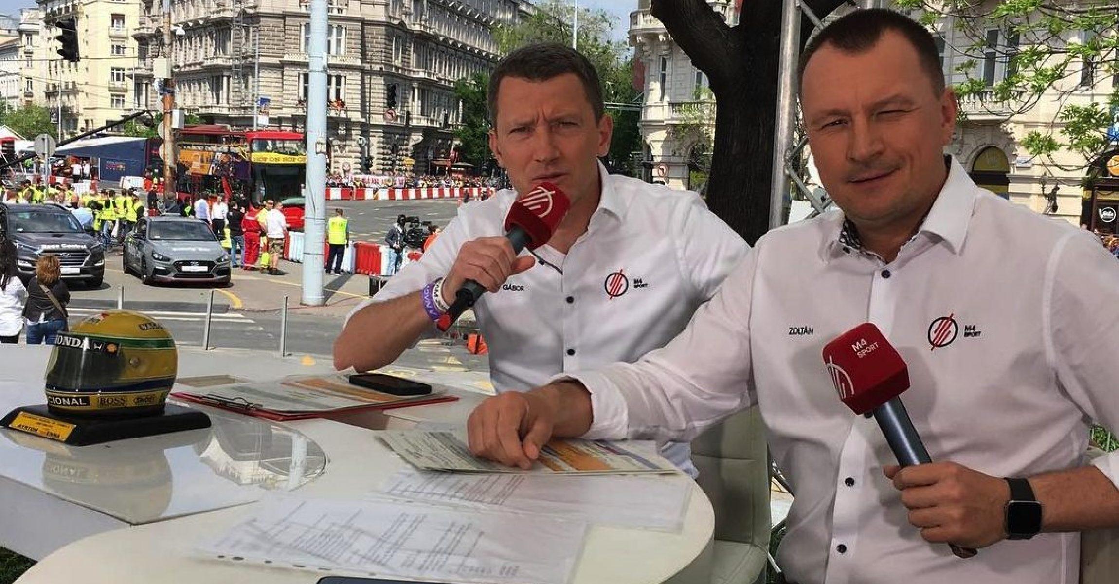 Gábor Wéber & Zoltán Szujó, M4 Sport, MTVA, Budapest, Nagy Futam