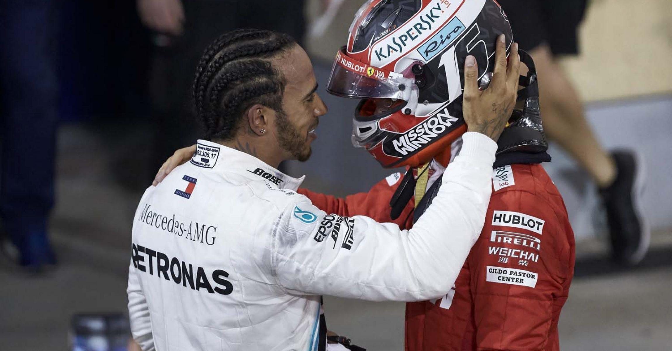 2019 Bahrain Grand Prix, Sunday - Steve Etherington, Lewis Hamilton, Charles Leclerc