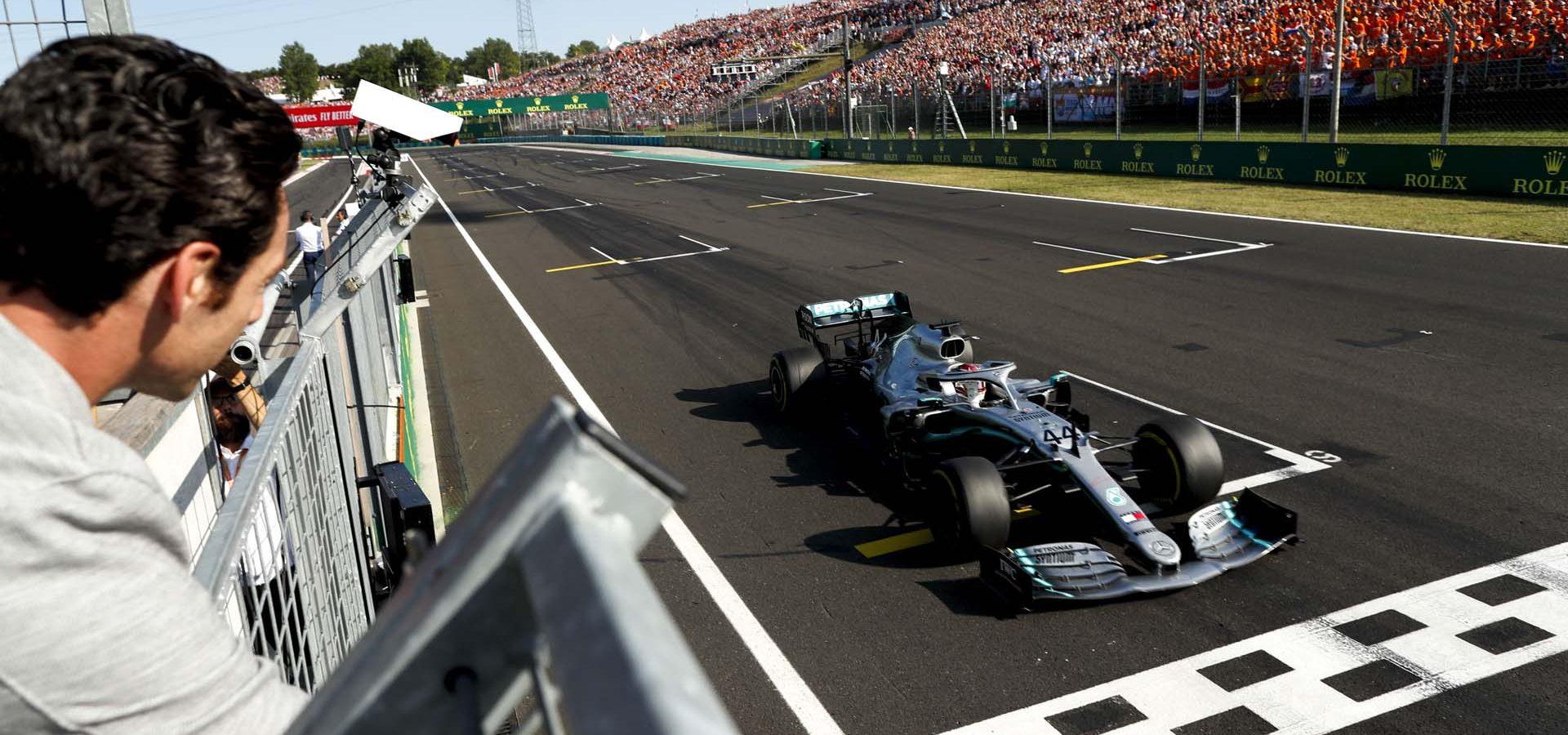 2019 Hungarian Grand Prix, Sunday - Wolfgang Wilhelm Simon Pagenaud Lewis Hamilton Mercedes