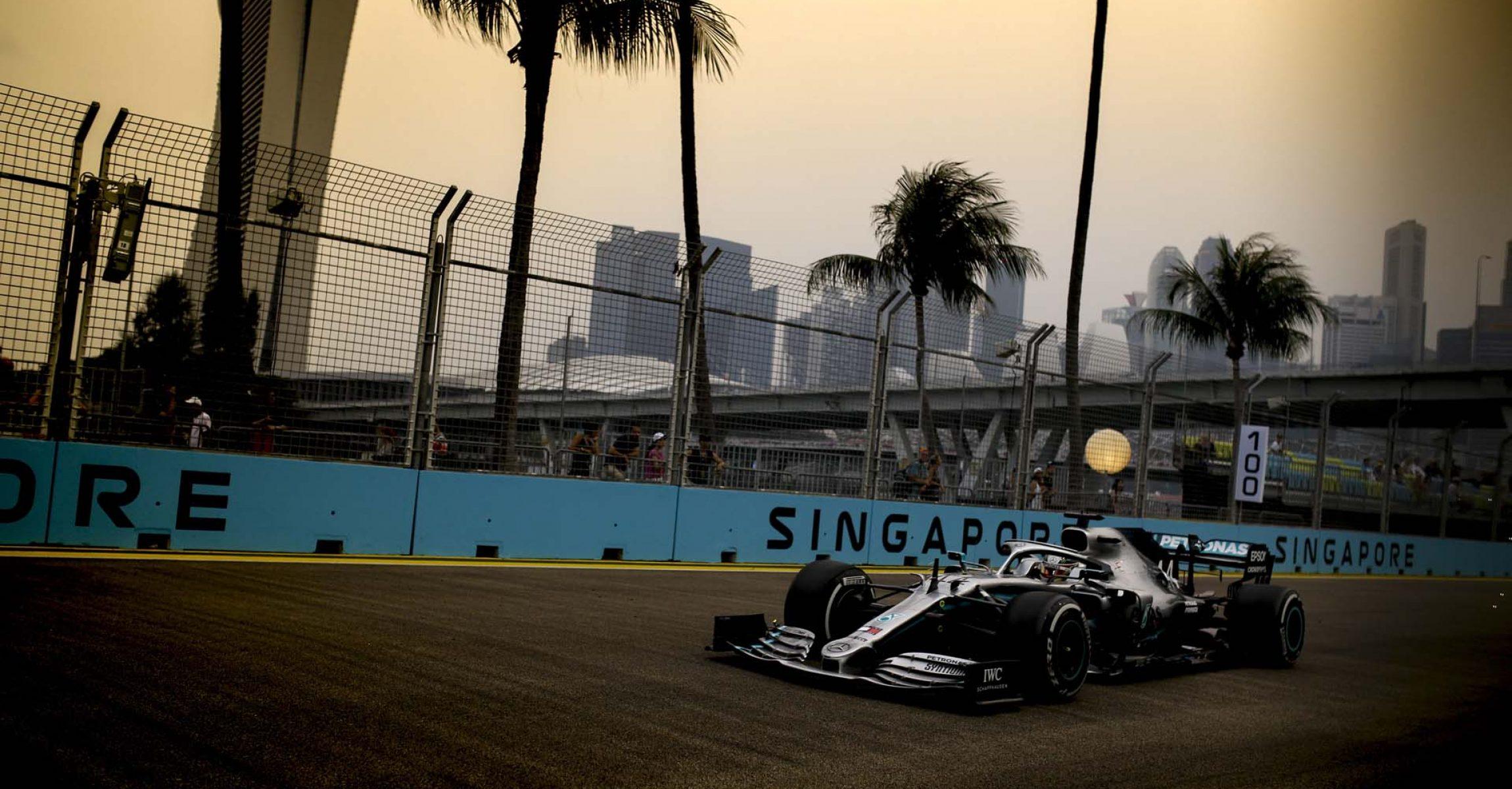2019 Singapore Grand Prix, Friday - Wolfgang Wilhelm Lewis Hamilton Mercedes