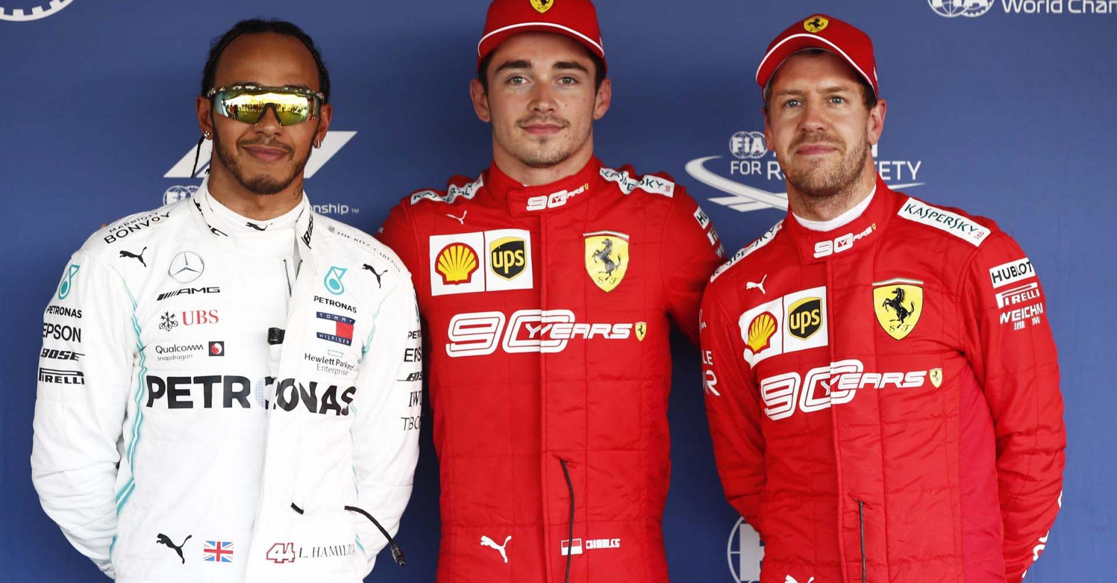 2019 Russian Grand Prix, Saturday - LAT Images Lewis Hamilton, Charles Leclerc, Sebastian Vettel