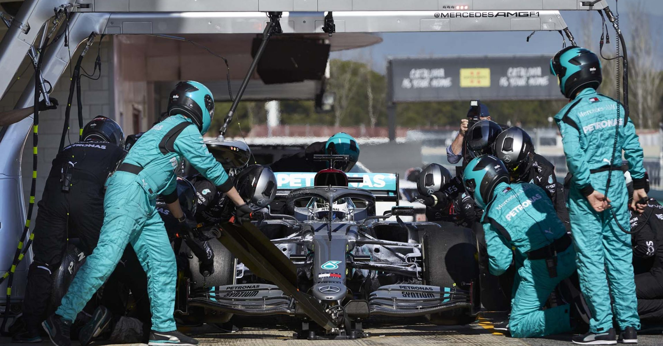 2020 Barcelona Pre-Season Test 1, Day 2 - Steve Etherington Valtteri Bottas Mercedes