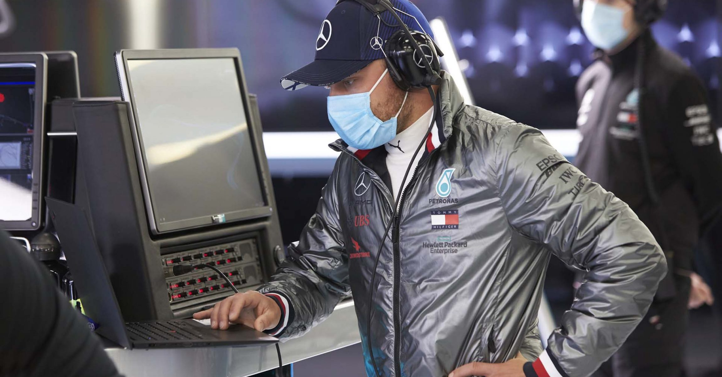Silverstone Test, Day 1 - Steve Etherington Valtteri Bottas Mercedes