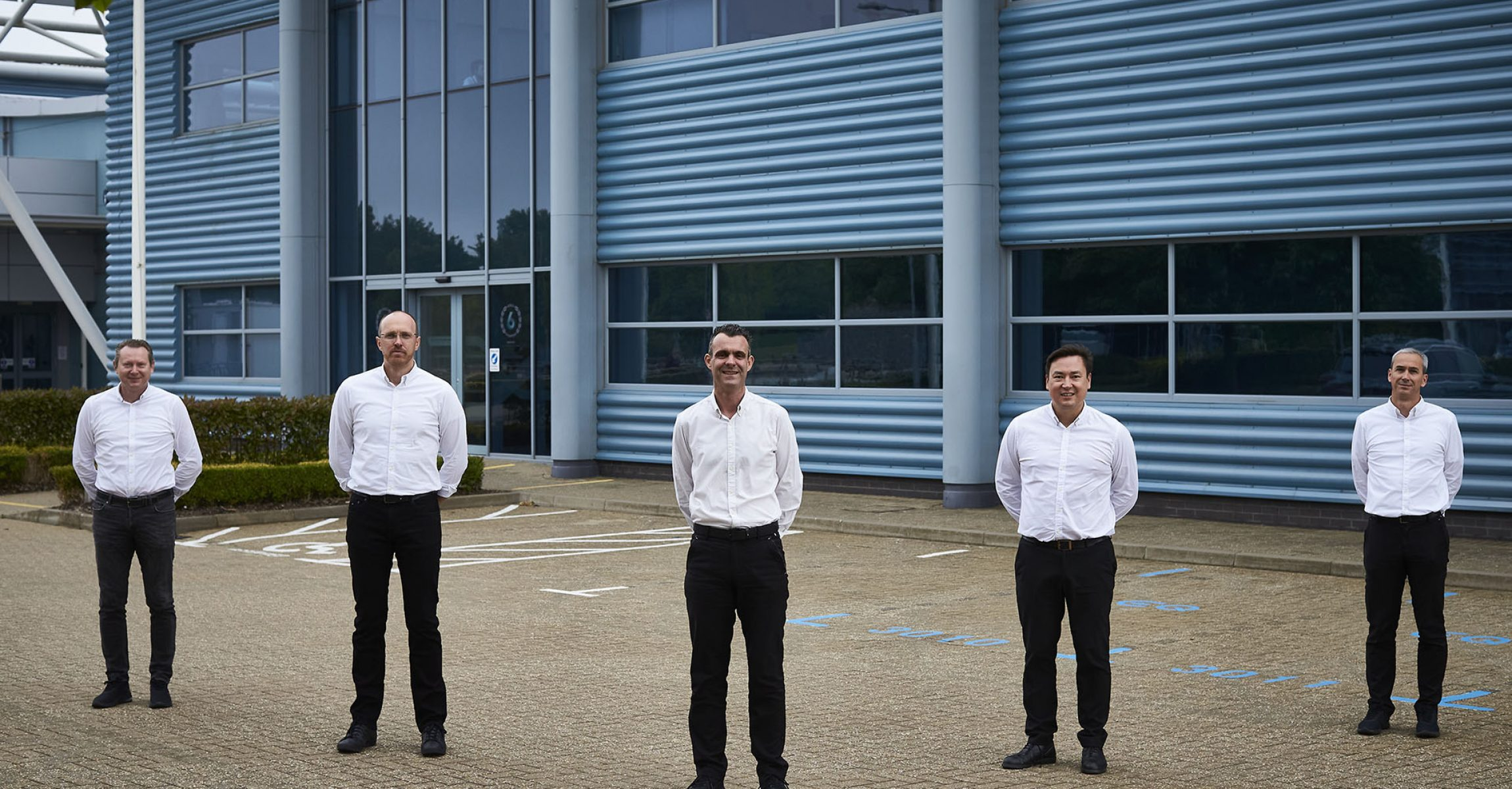 Revised senior management structure at Mercedes-AMG High Performance Powertrains (from left to right): Ronald Ballhaus (Finance and IT Director), Adam Allsopp (Project One Powertrain Director), Hywel Thomas (Managing Director), Richard Stevens (Operations Director), Pierre Godof (Formula E Powertrain Chief Engineer)