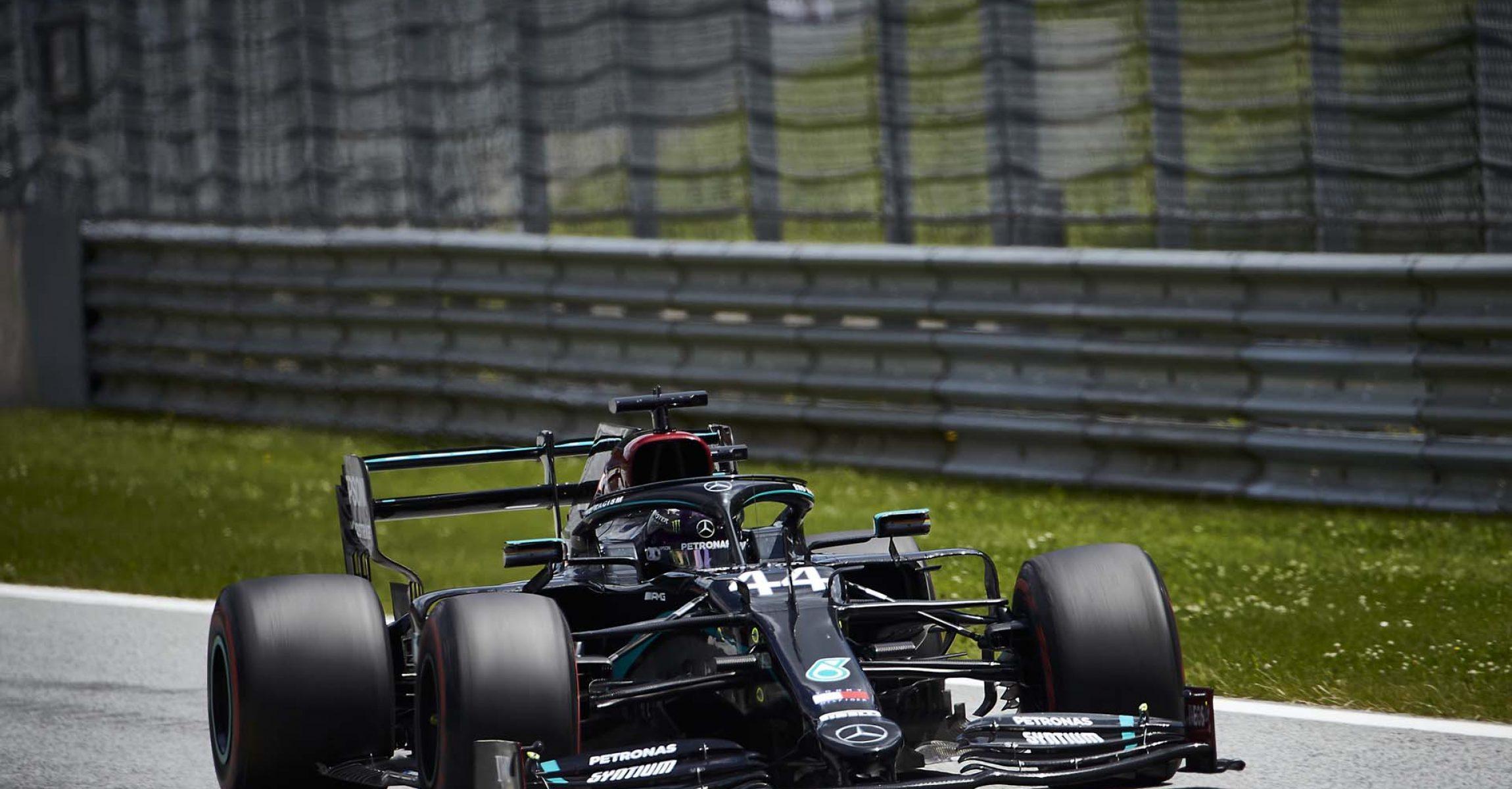 2020 Austrian Grand Prix, Saturday - Steve Etherington Lewis Hamilton Mercedes