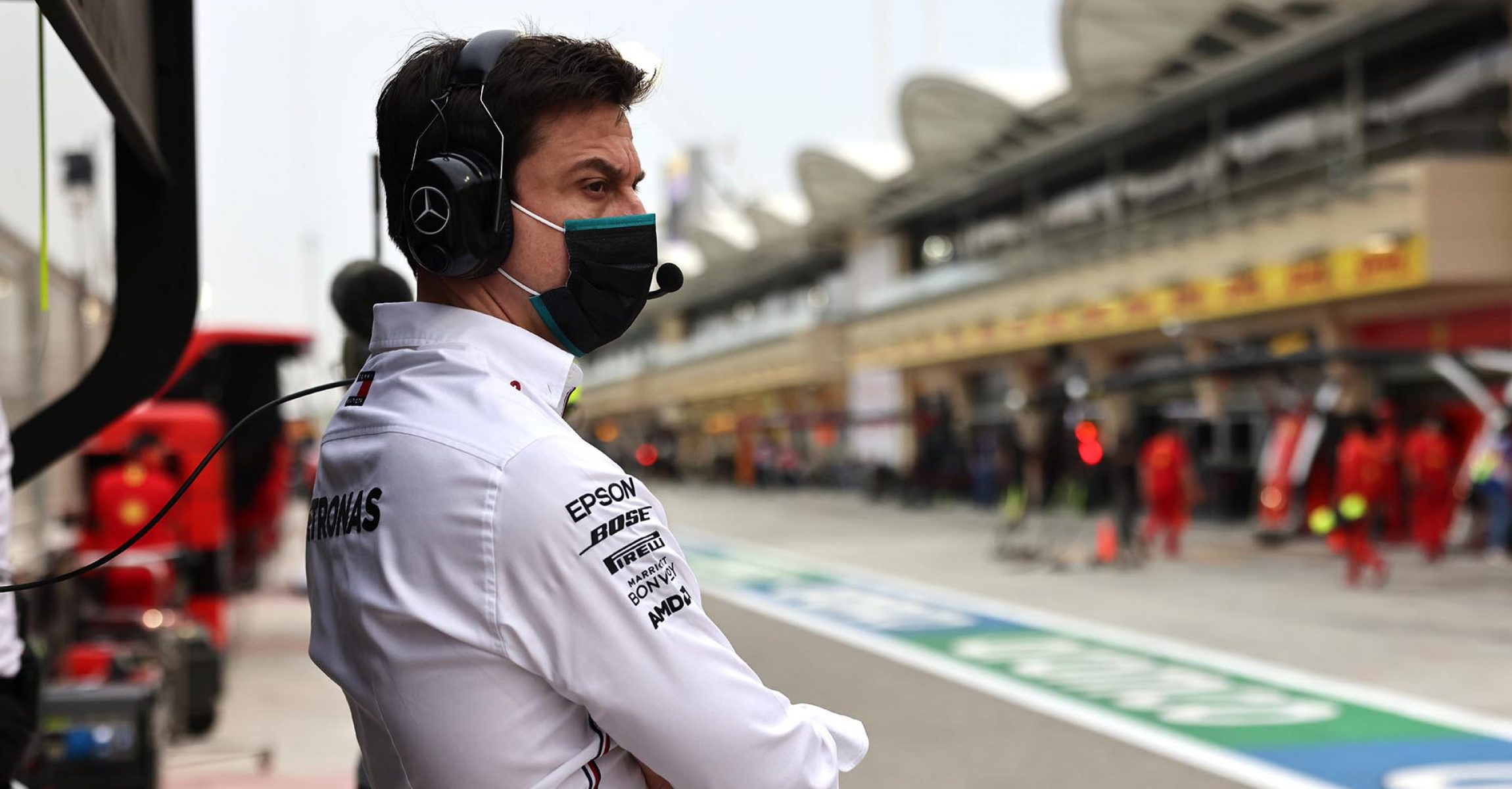 2020 Bahrain Grand Prix, Friday - Steve Etherington Toto Wolff Mercedes