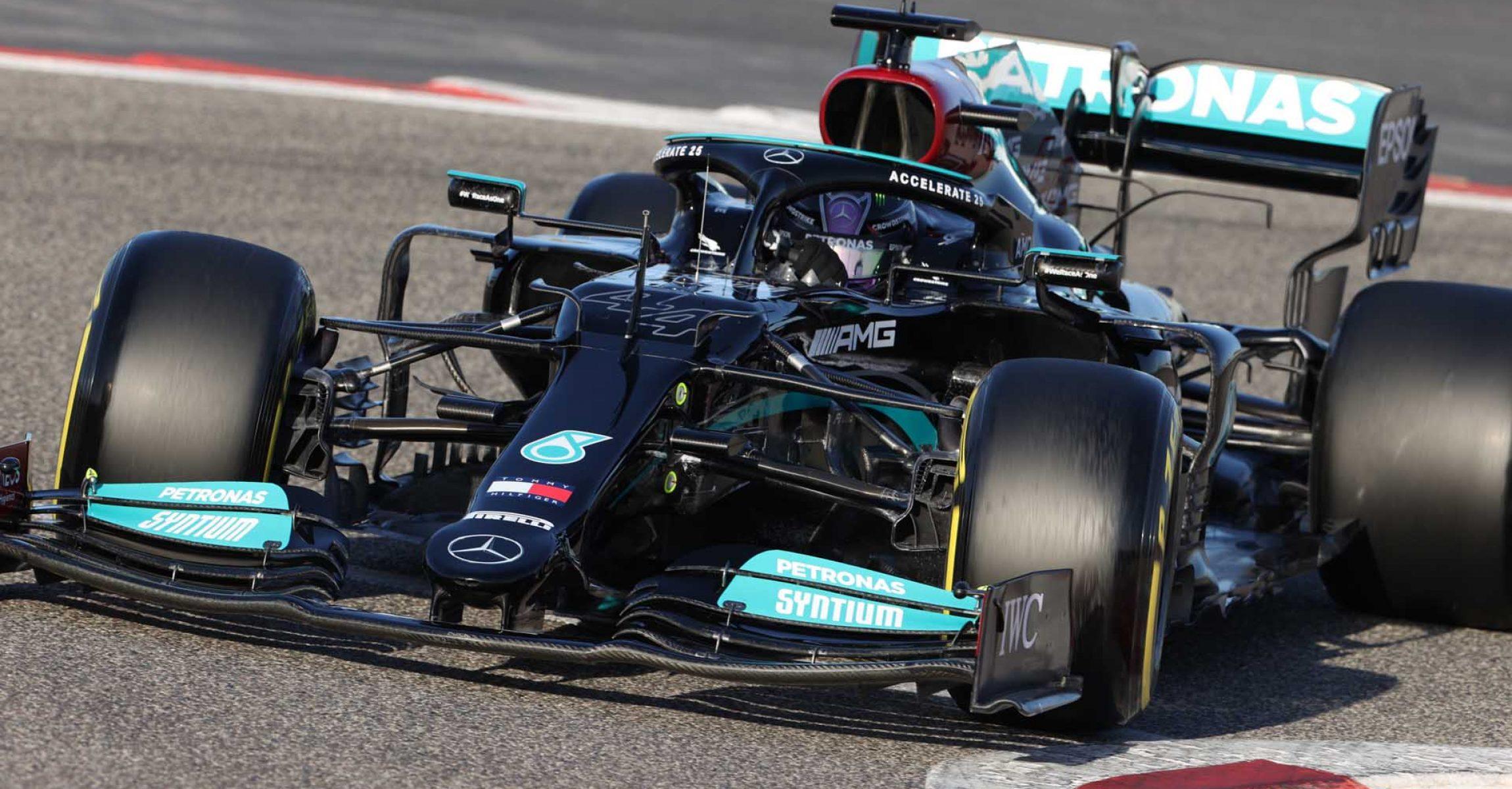 2021 Bahrain Pre-Season Test, Day 3 - Wolfgang Wilhelm Lewis Hamilton Mercedes