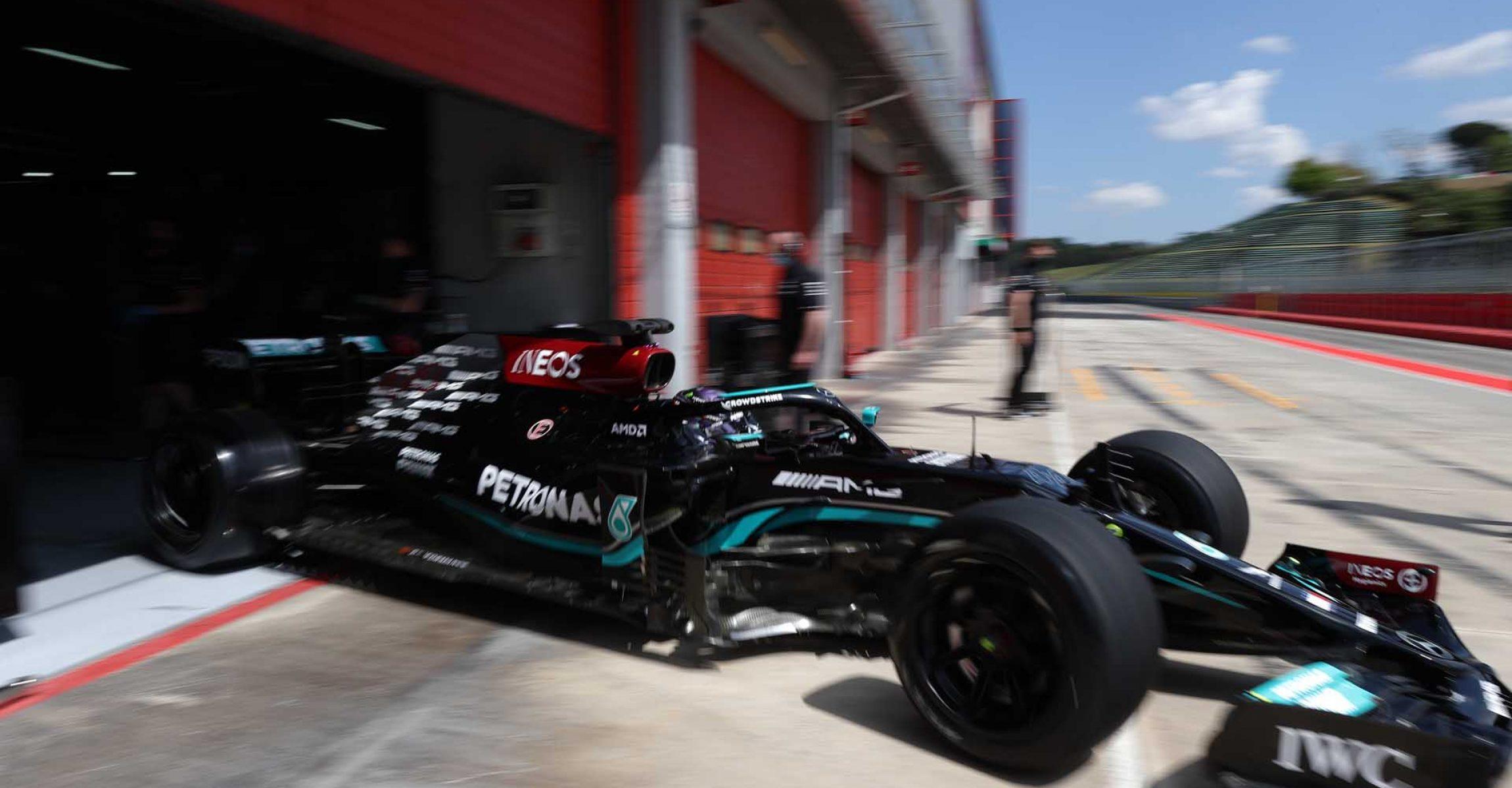 2021 Pirelli Tyre Test - Imola, Lewis Hamilton, Mercedes, 18 inch tyre