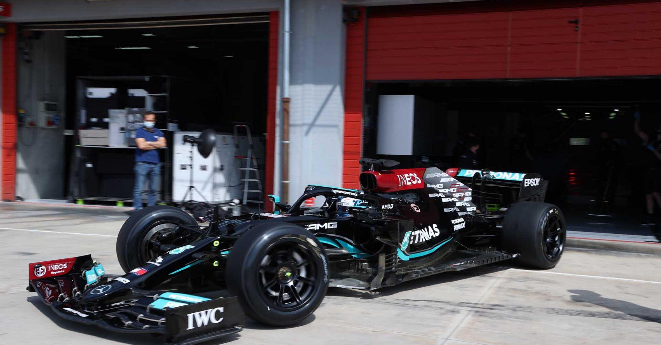 2021 Pirelli Tyre Test - Imola (Day 2) Valtteri Bottas Mercedes 18 inch tyre test