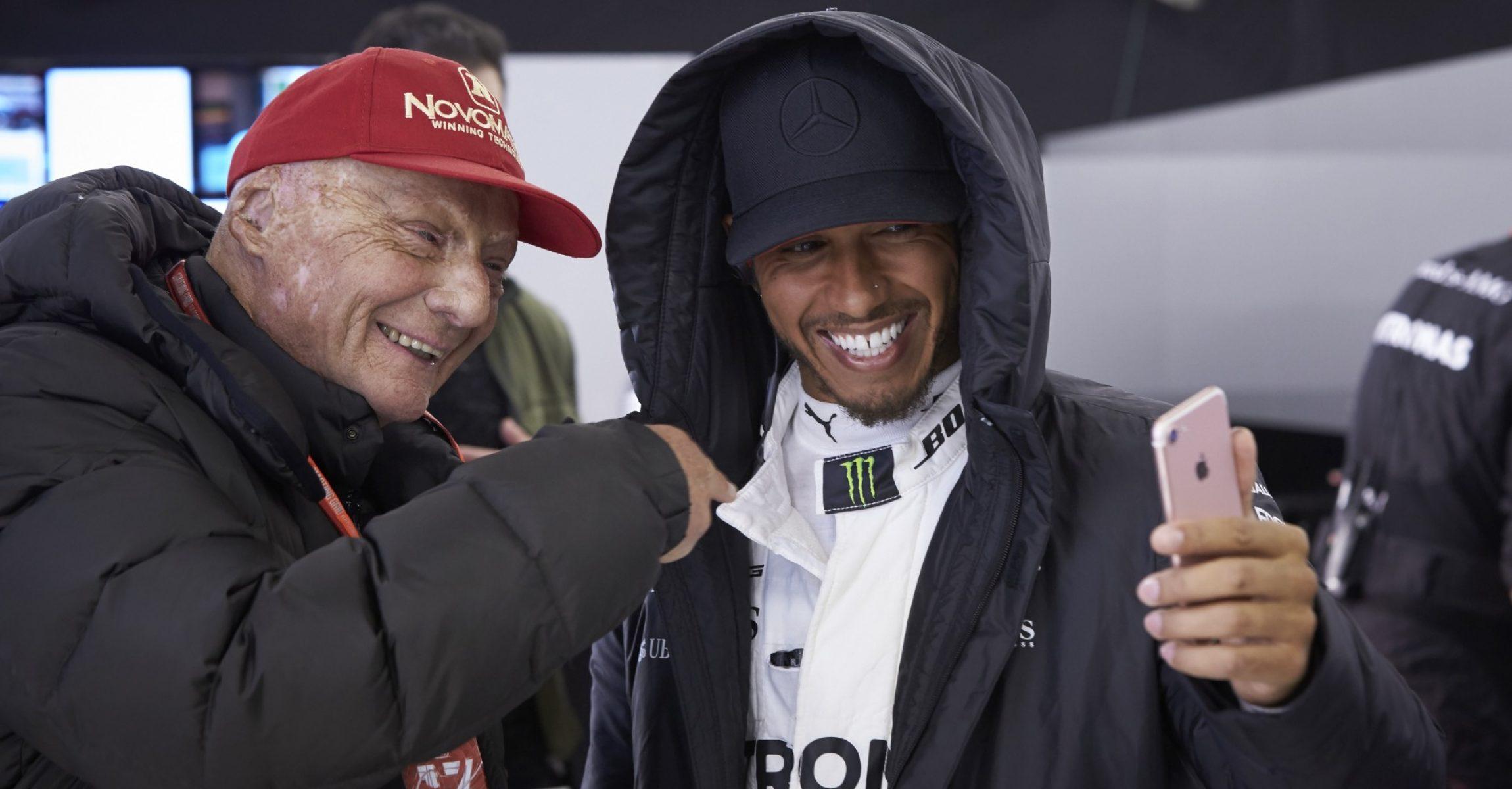 Niki Lauda, Lewis Hamilton Lauda