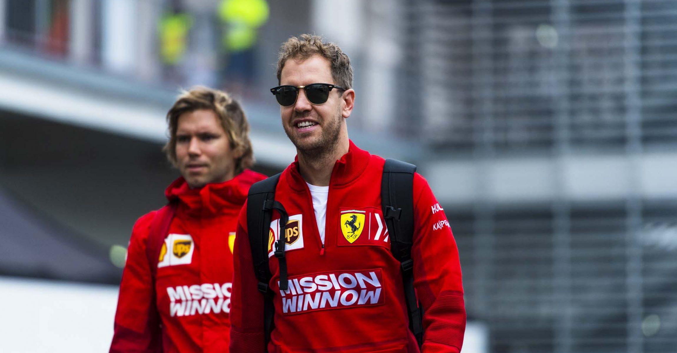 Sebastian Vettel, Ferrari, Antti Kontsas, phisyo