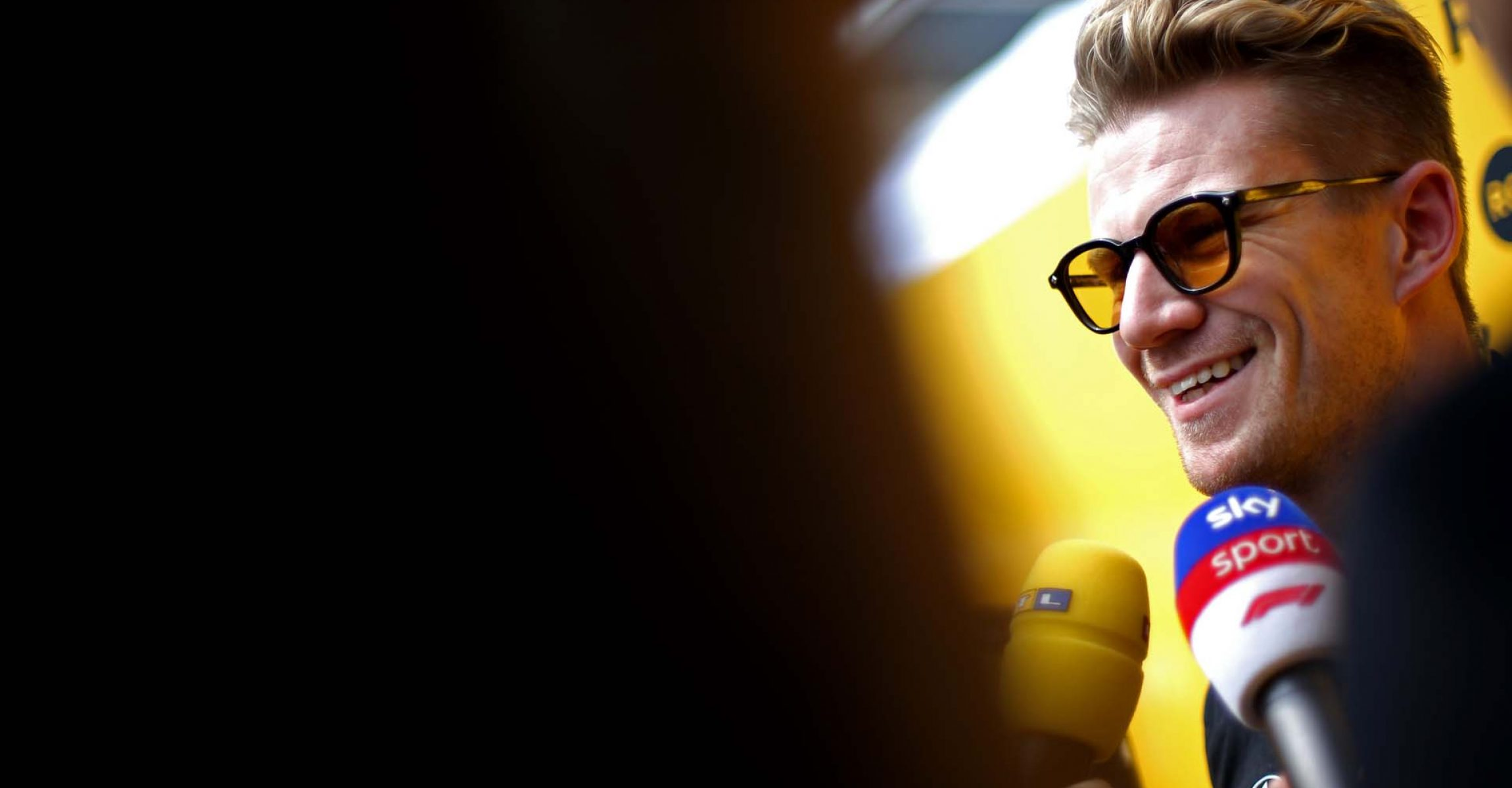 Nico Hülkenberg (GER) Renault F1 Team with the media. Mexican Grand Prix, Thursday 24th October 2019. Mexico City, Mexico. Sky Sports F1