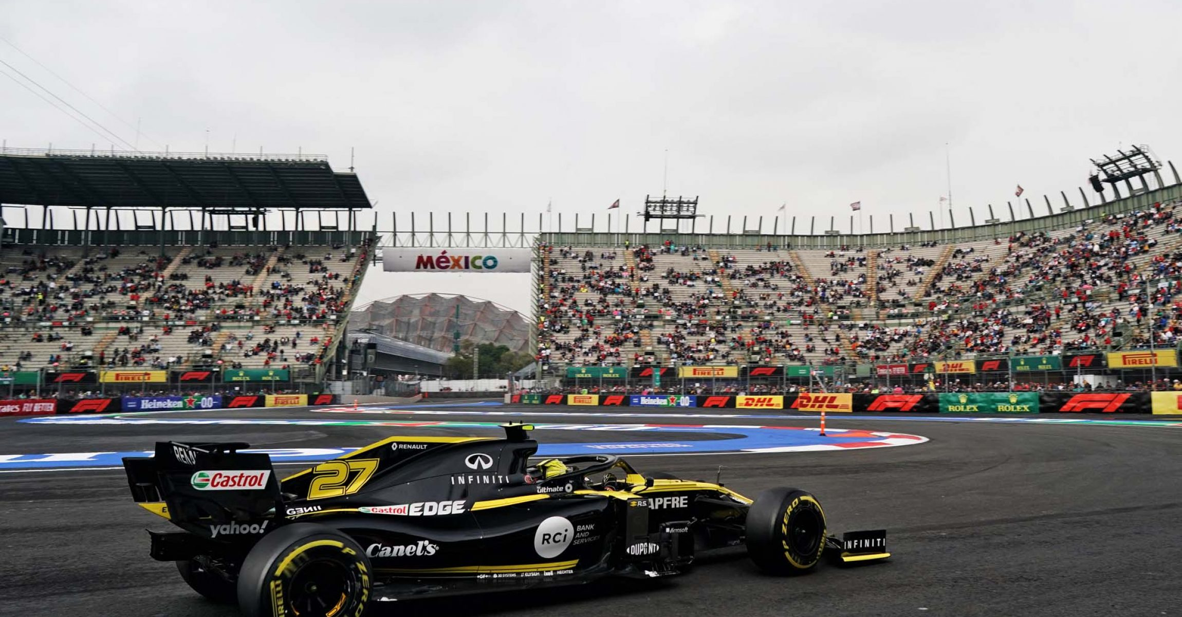Nico Hülkenberg (GER) Renault F1 Team RS19.                                Mexican Grand Prix, Friday 25th October 2019. Mexico City, Mexico.