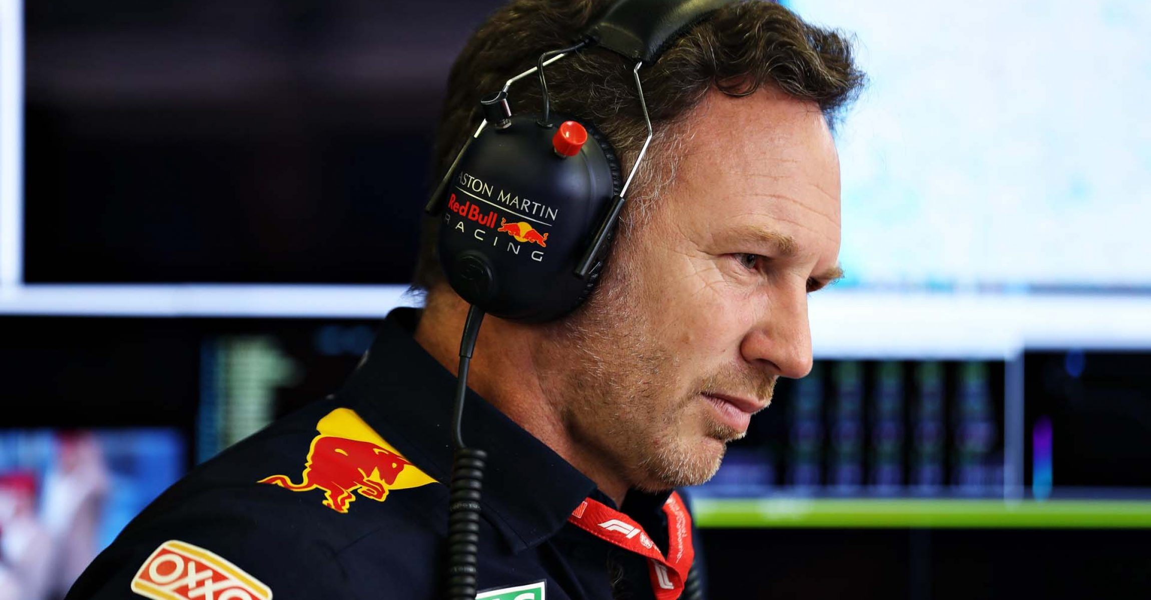 MEXICO CITY, MEXICO - OCTOBER 27: Red Bull Racing Team Principal Christian Horner looks on in the garage before the F1 Grand Prix of Mexico at Autodromo Hermanos Rodriguez on October 27, 2019 in Mexico City, Mexico. (Photo by Mark Thompson/Getty Images) // Getty Images / Red Bull Content Pool // AP-21ZQ5VHUN2111 // Usage for editorial use only //