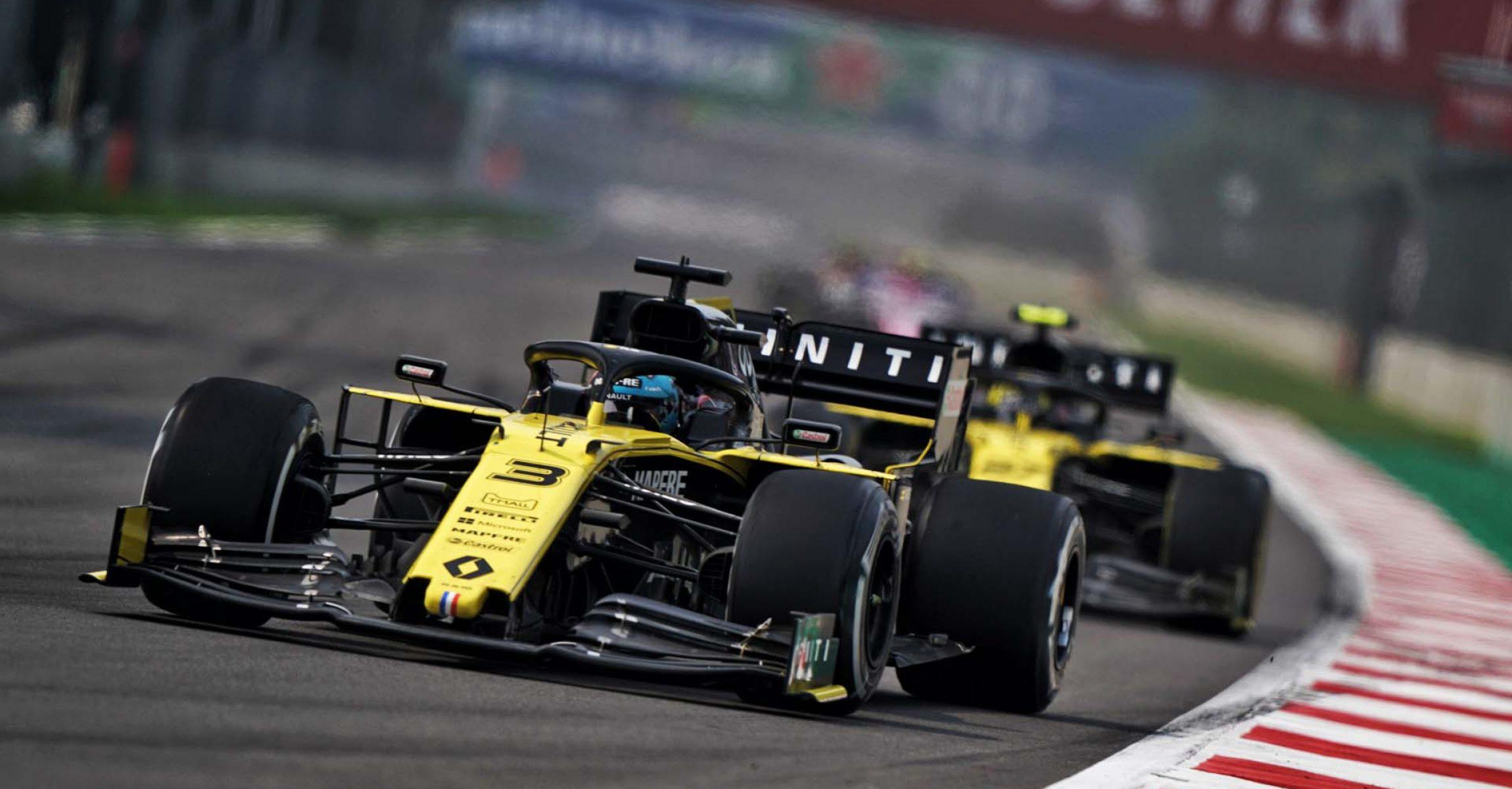 Daniel Ricciardo (AUS) Renault F1 Team RS19.                                Mexican Grand Prix, Sunday 27th October 2019. Mexico City, Mexico.