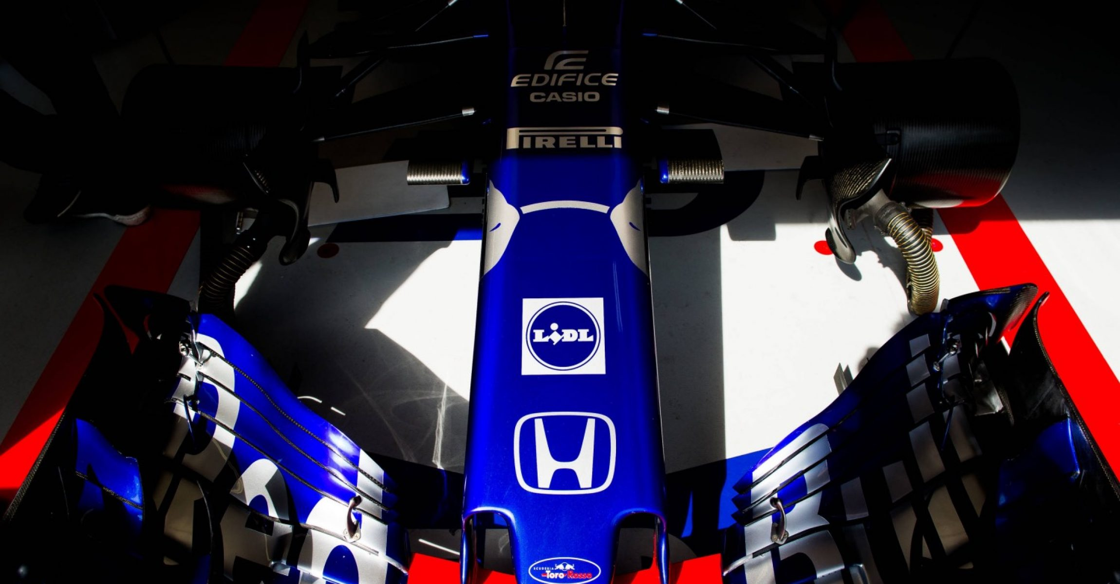 MONTE-CARLO, MONACO - MAY 24:  24:  24:  24:  24:  24:  24:  24:  24:  Brendon Hartley of Scuderia Toro Rosso and New Zealand during practice for the Monaco Formula One Grand Prix at Circuit de Monaco on May 24, 2018 in Monte-Carlo, Monaco.  (Photo by Peter Fox/Getty Images) // Getty Images / Red Bull Content Pool  // AP-1VRUVFQQ11W11 // Usage for editorial use only // Please go to www.redbullcontentpool.com for further information. // Honda Logo, Lidl logo nose front wing