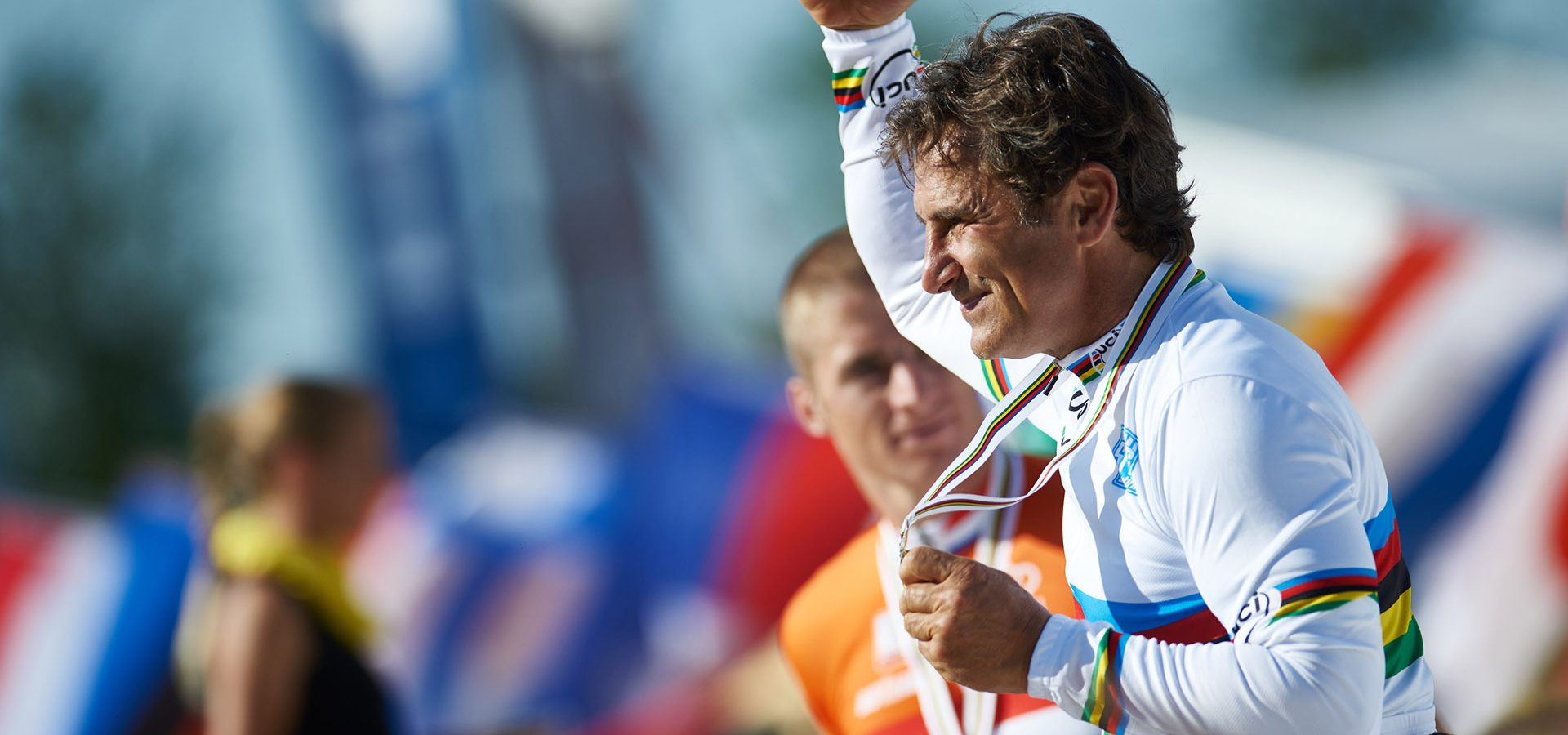 Nottwil (SUI) 2nd August 2015. UCI Para-Cycling Road World Championship 2015 - Road race - BMW Ambassador Alessandro Zanardi (ITA). This image is copyright free for editorial use © BMW AG