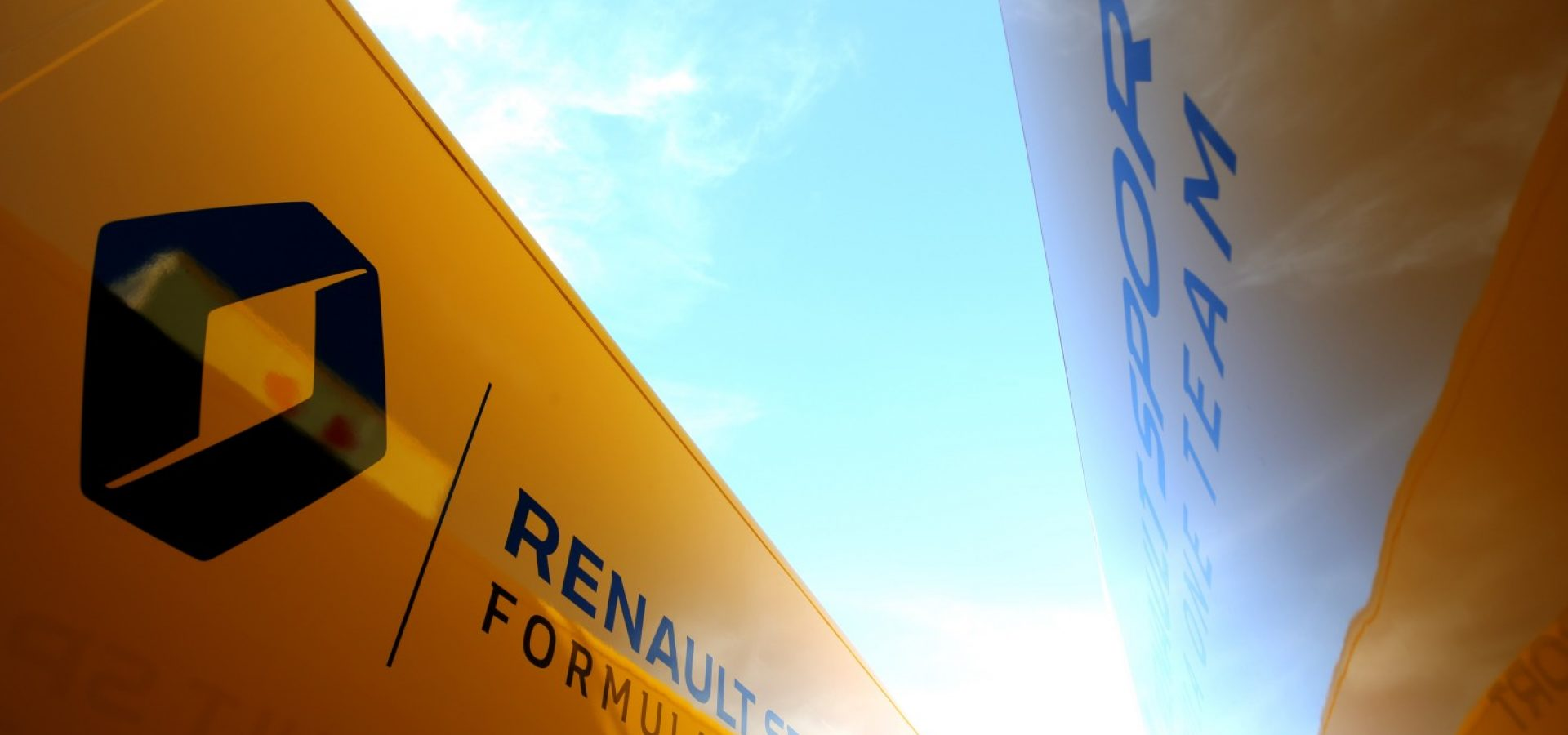 Renault Sport F1 Team trucks. Formula One Testing, Day 4, Friday 9th March 2018. Barcelona, Spain. logo