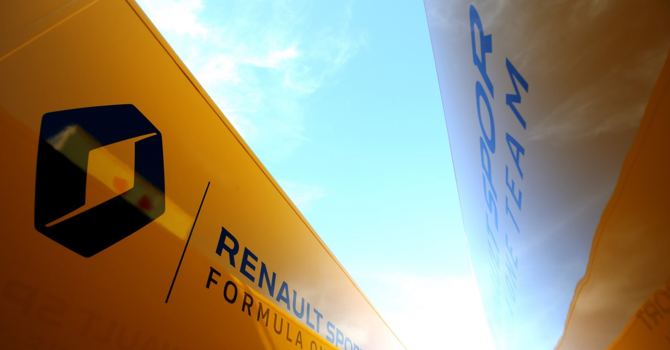 Renault Sport F1 Team trucks. Formula One Testing, Day 4, Friday 9th March 2018. Barcelona, Spain. logo