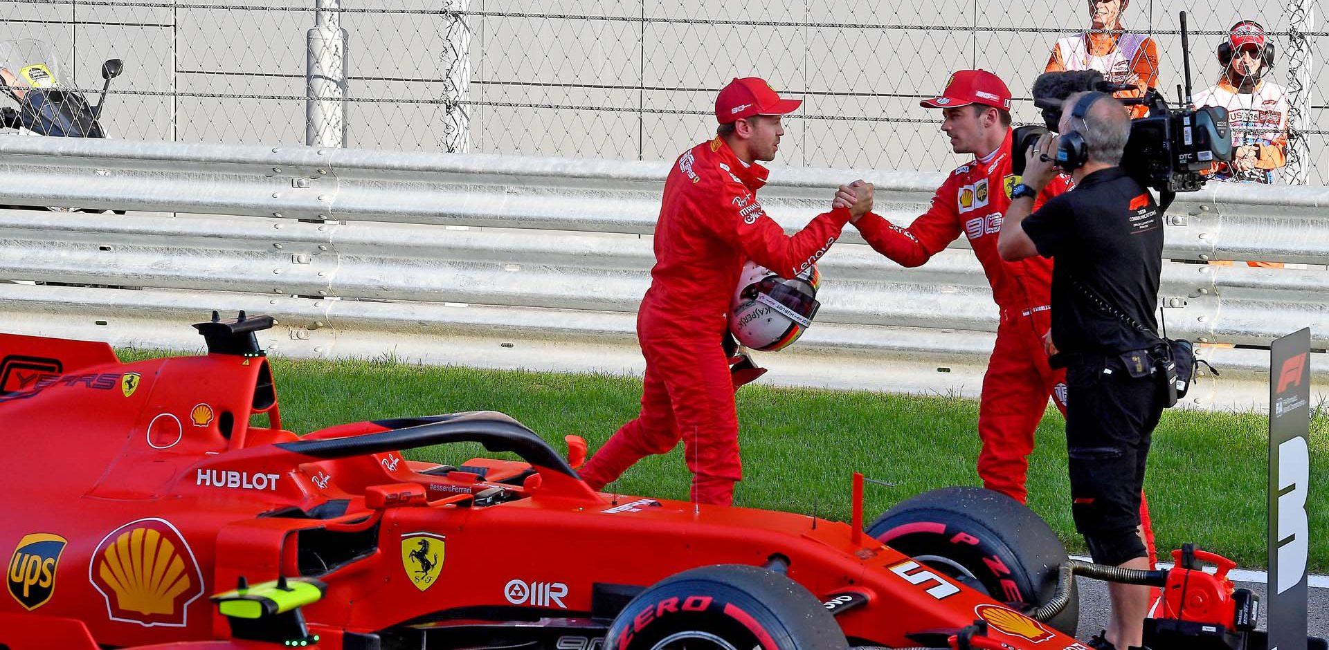 GP RUSSIA F1/2019 -  SABATO  28/09/2019   credit: @Scuderia Ferrari Press Office Charles Leclerc Sebastian Vettel