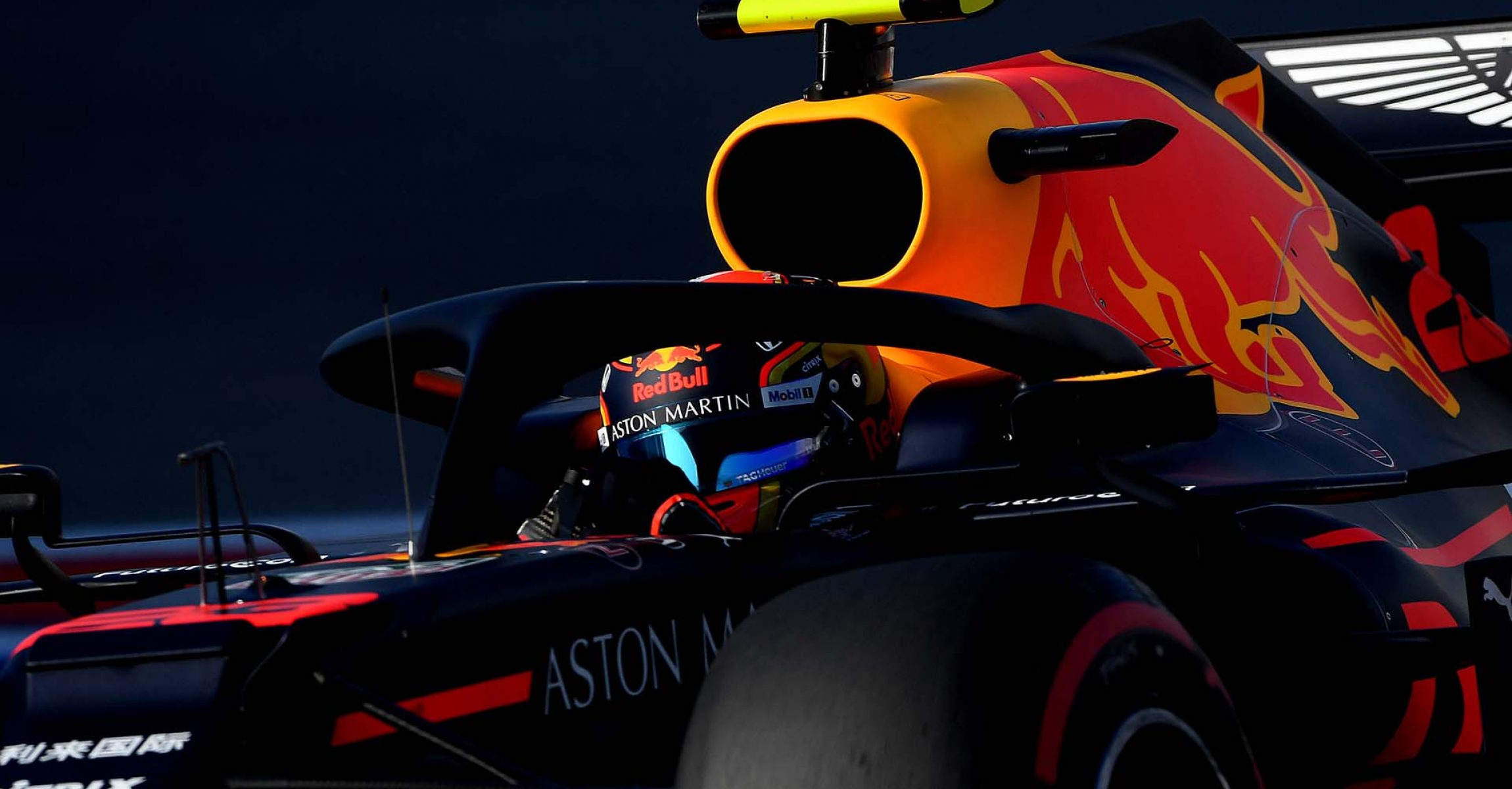 SOCHI, RUSSIA - SEPTEMBER 28: Alexander Albon of Thailand driving the (23) Aston Martin Red Bull Racing RB15 on track during qualifying for the F1 Grand Prix of Russia at Sochi Autodrom on September 28, 2019 in Sochi, Russia. (Photo by Clive Mason/Getty Images) // Getty Images / Red Bull Content Pool  // AP-21Q8BX88D1W11 // Usage for editorial use only //