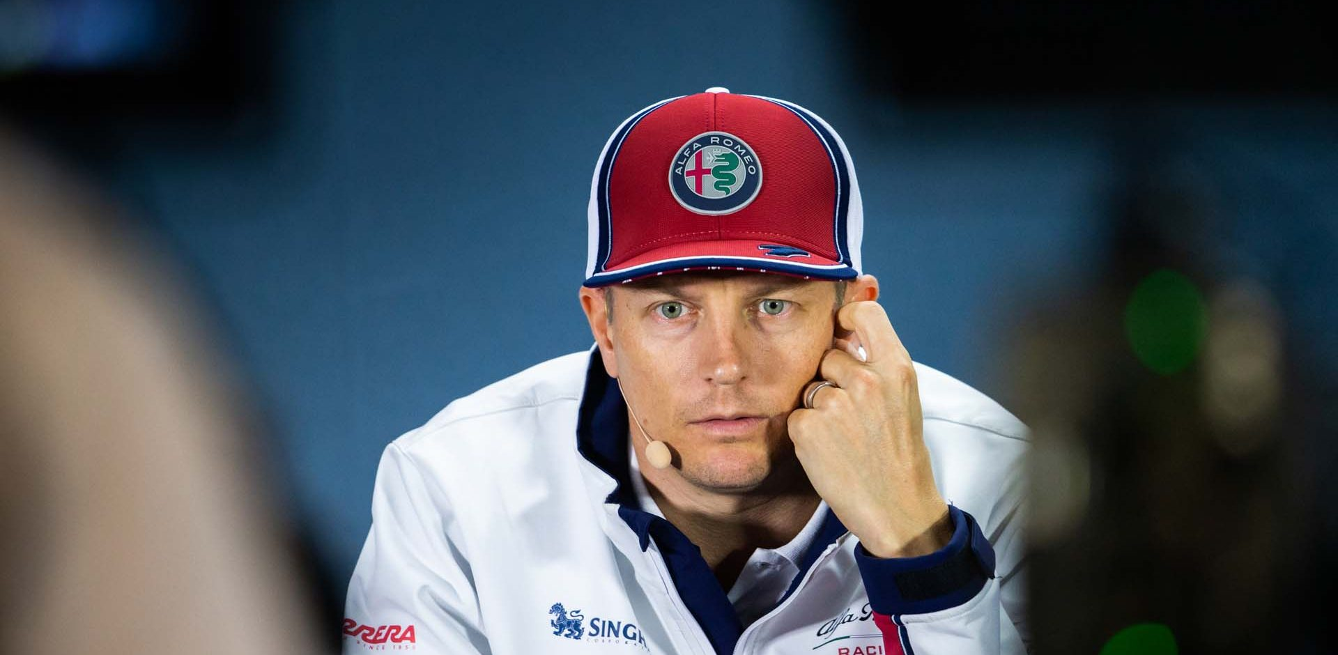 RAIKKONEN Kimi Räikkönen (fin), Alfa Romeo Racing C38, portrait press conference during the 2019 Formula One World Championship, Russia Grand Prix from September 26 to 29 in Sotchi, Russia - Photo Antonin Vincent / DPPI