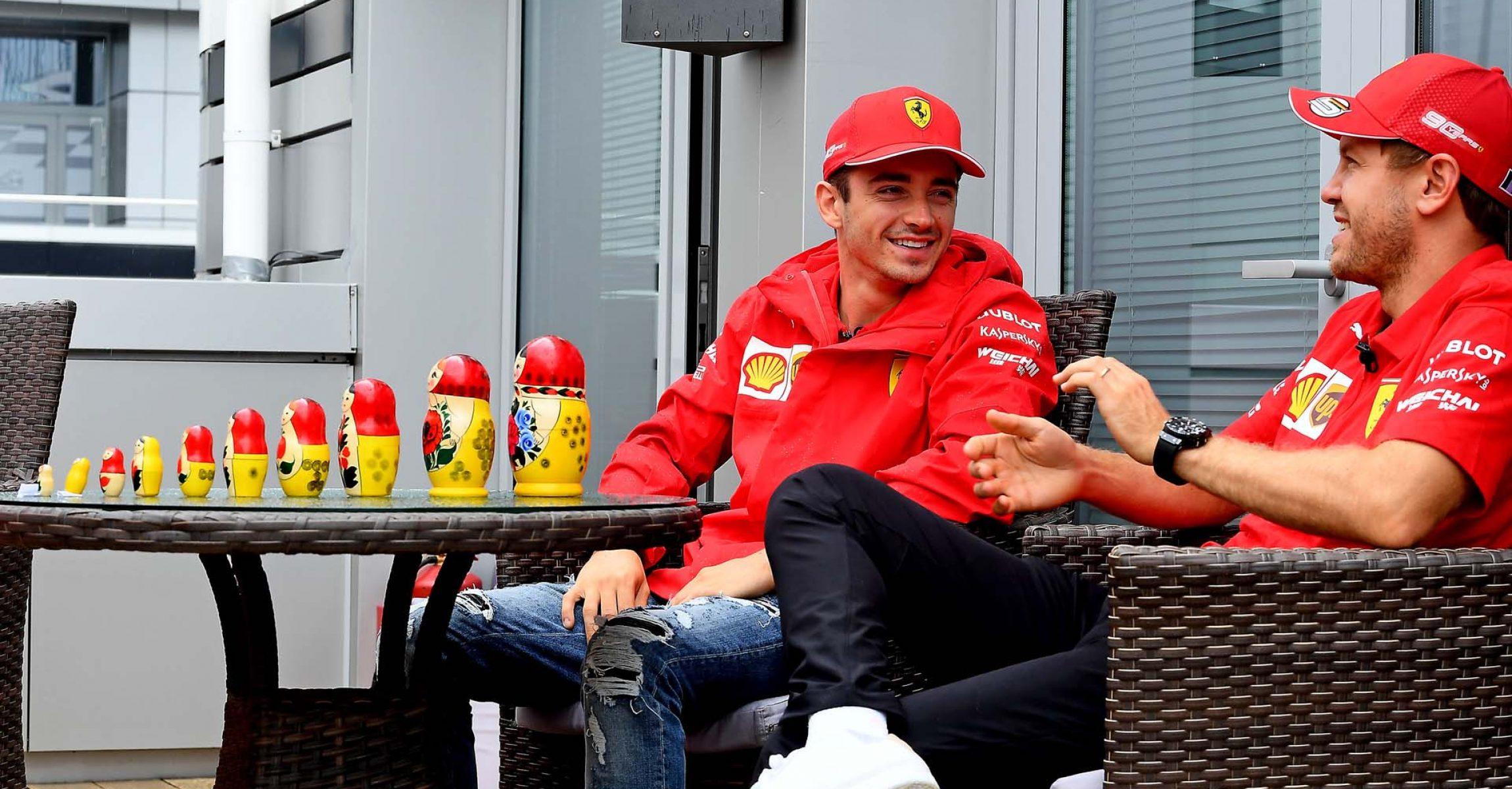 GP RUSSIA F1/2019 -  GIOVEDÌ 26/09/2019   credit: @Scuderia Ferrari Press Office Charles Leclerc Sebastian Vettel