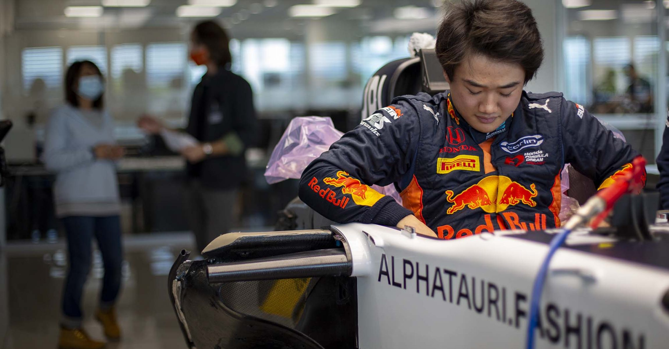 FAENZA, ITALY - OCTOBER 14: Yuki Tsunoda of Japan completes his seat fit at the Scuderia AlphaTauri factory on October 14, 2020 in Faenza, Italy. (Photo by Josh Kruse/Scuderia AlphaTauri) // Josh Kruse / Scuderia AlphaTauri / Red Bull Content Pool // SI202010140212 // Usage for editorial use only //