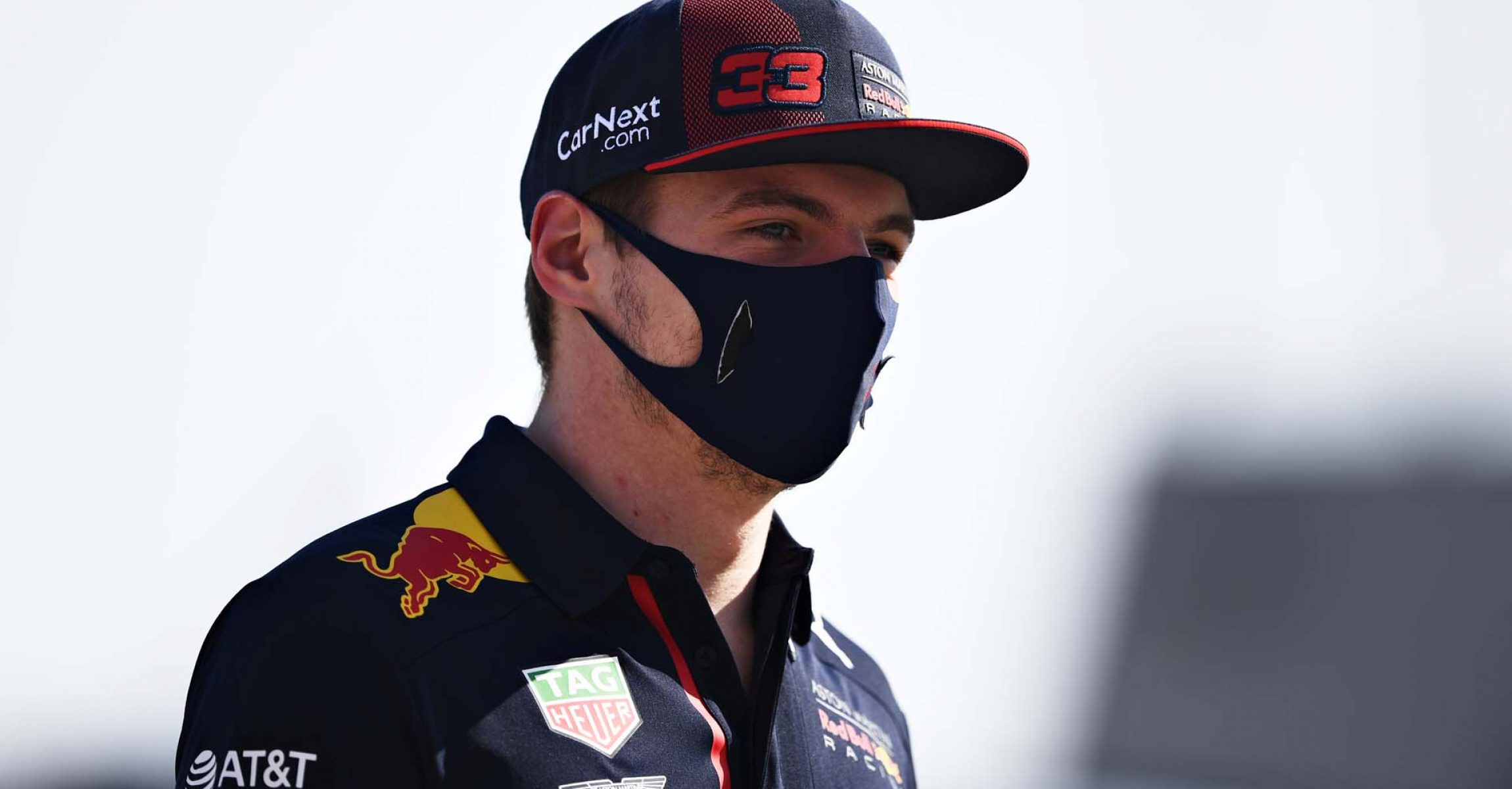 BAHRAIN, BAHRAIN - NOVEMBER 26: Max Verstappen of Netherlands and Red Bull Racing walks in the Paddock during previews ahead of the F1 Grand Prix of Bahrain at Bahrain International Circuit on November 26, 2020 in Bahrain, Bahrain. (Photo by Rudy Carezzevoli/Getty Images)