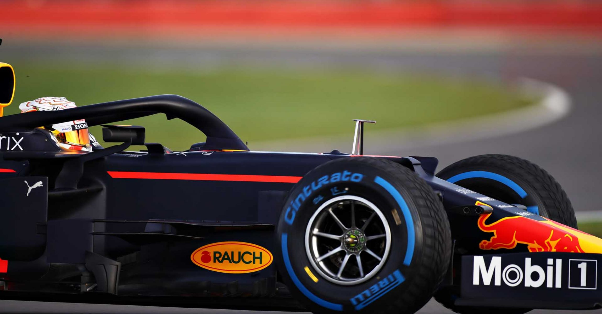 NORTHAMPTON, ENGLAND - FEBRUARY 24: Max Verstappen of Netherlands driving the Red Bull Racing RB15 Honda during the Red Bull Racing Filming Day at Silverstone on February 24, 2021 in Northampton, England. (Photo by Bryn Lennon/Getty Images for Red Bull Racing)