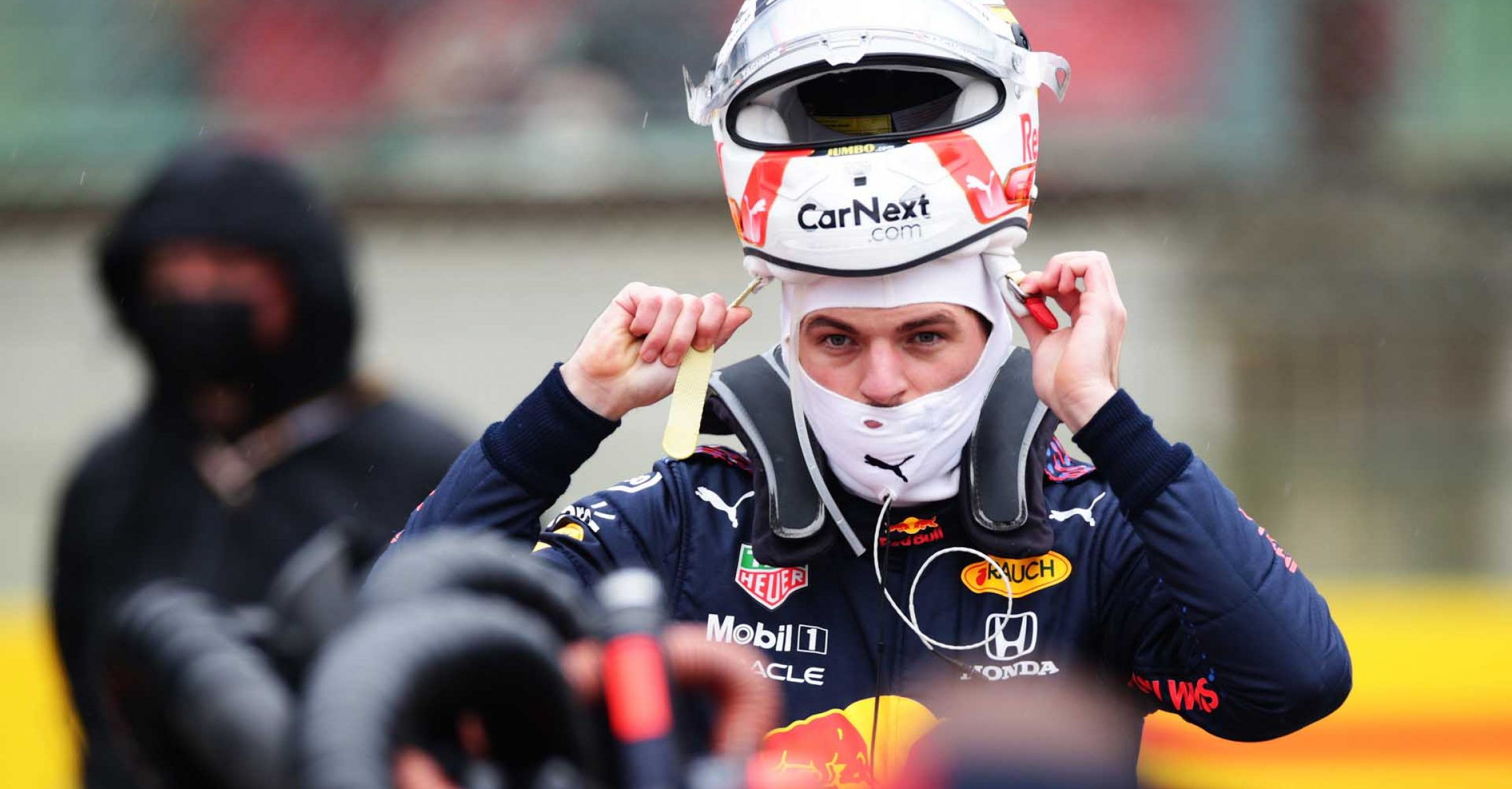 IMOLA, ITALY - APRIL 18: Max Verstappen of Netherlands and Red Bull Racing prepares to drive on the grid prior to the F1 Grand Prix of Emilia Romagna at Autodromo Enzo e Dino Ferrari on April 18, 2021 in Imola, Italy. (Photo by Peter Fox/Getty Images)