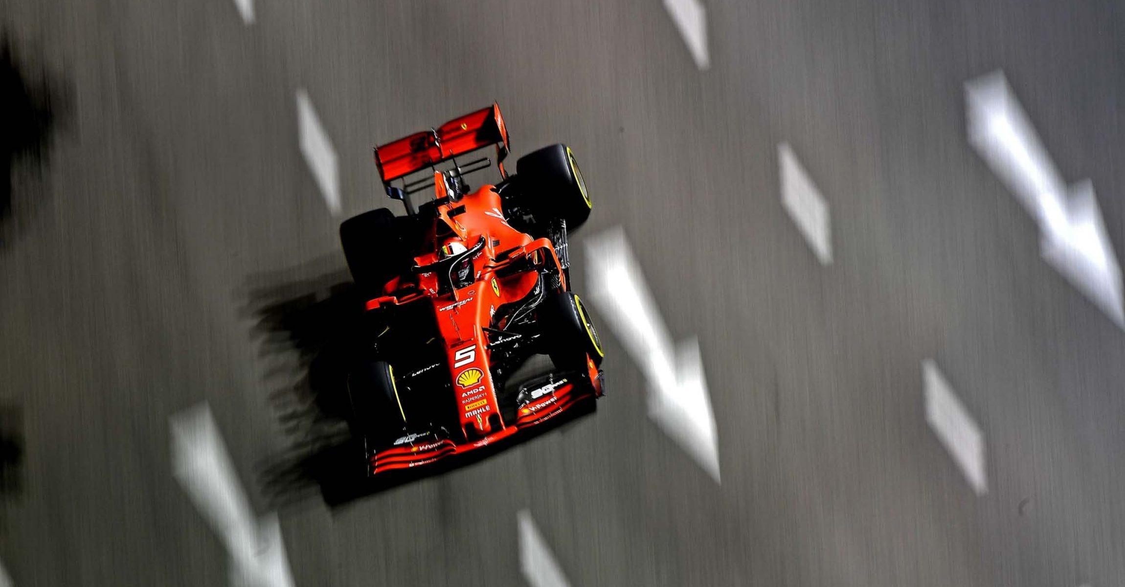 GP SINGAPORE F1/2019 -  VENERDI 20/09/2019   credit: @Scuderia Ferrari Press Office Sebastian Vettel, Ferrari, Singapore Grand Prix 2019