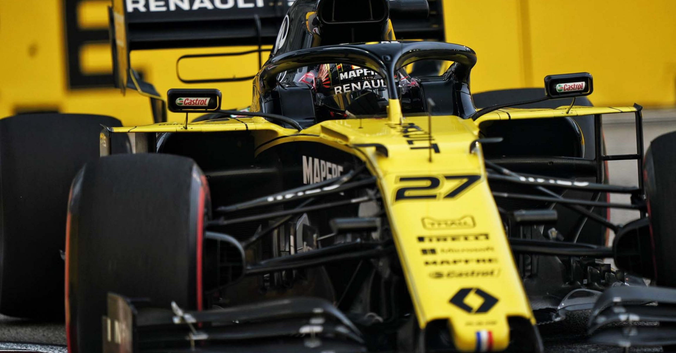 Nico Hülkenberg (GER) Renault F1 Team RS19. Singapore Grand Prix, Friday 20th September 2019. Marina Bay Street Circuit, Singapore.