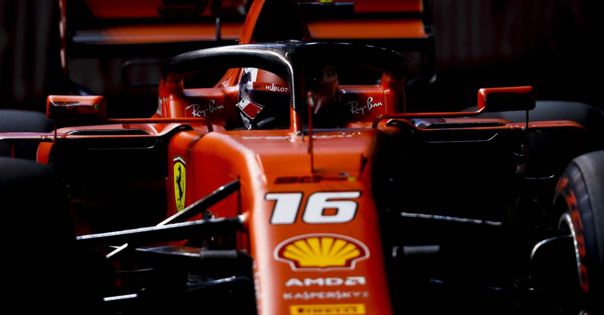 SINGAPORE STREET CIRCUIT, SINGAPORE - SEPTEMBER 21: Charles Leclerc, Ferrari SF90 during the Singapore GP at Singapore Street Circuit on September 21, 2019 in Singapore Street Circuit, Singapore. (Photo by Zak Mauger / LAT Images)