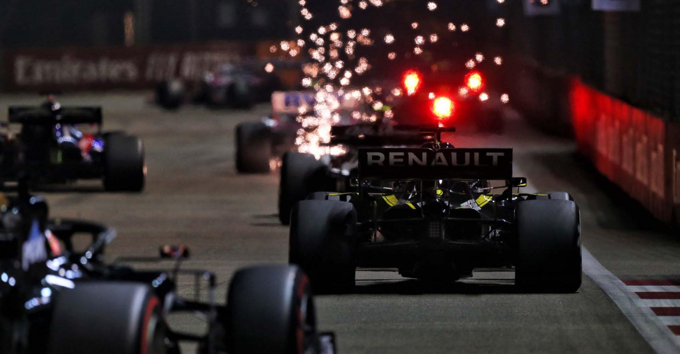 Daniel Ricciardo (AUS) Renault F1 Team RS19. Singapore Grand Prix, Sunday 22nd September 2019. Marina Bay Street Circuit, Singapore.