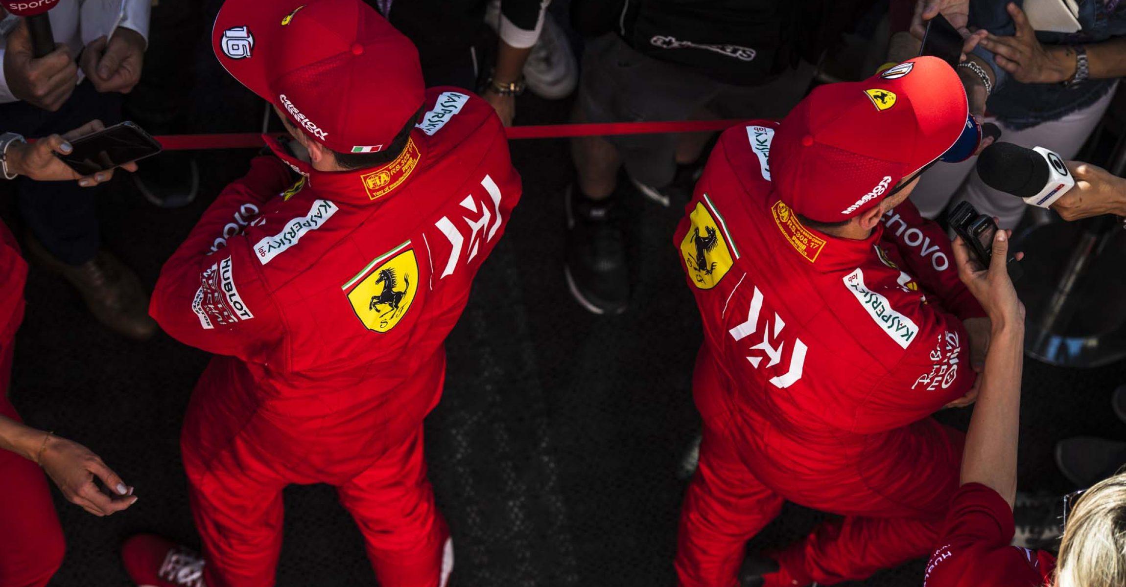 Barcelona, Spain, Sebastian Vettel Ferrari Charles Leclerc