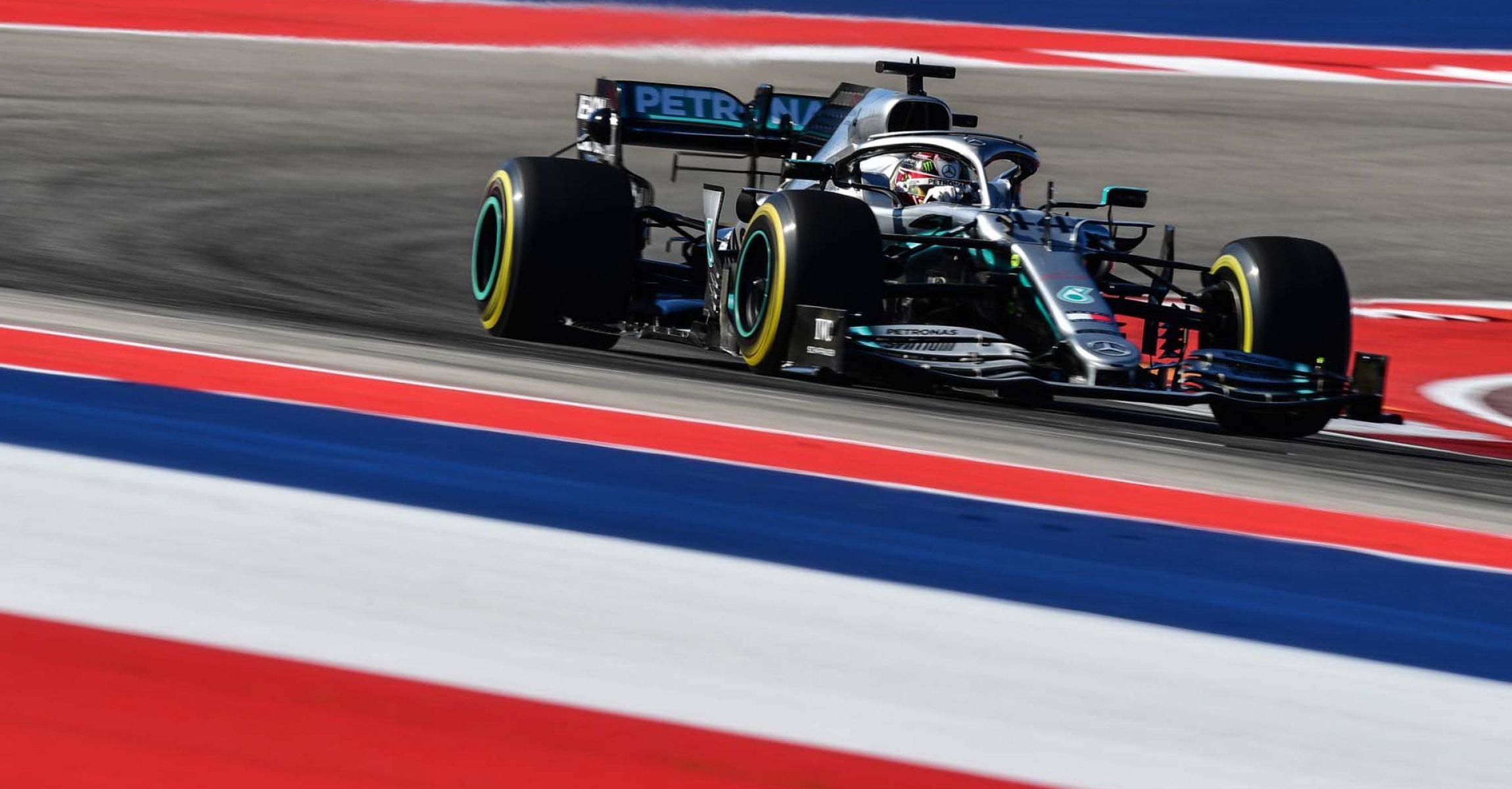 2019 United States Grand Prix, Friday - LAT Images Lewis Hamilton Mercedes
