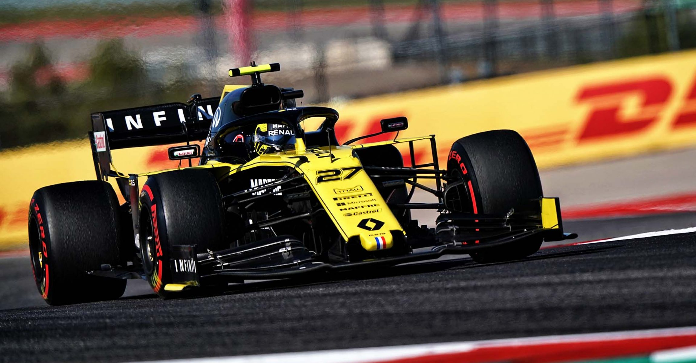 Nico Hülkenberg (GER) Renault F1 Team RS19. United States Grand Prix, Friday 1st November 2019. Circuit of the Americas, Austin, Texas, USA.